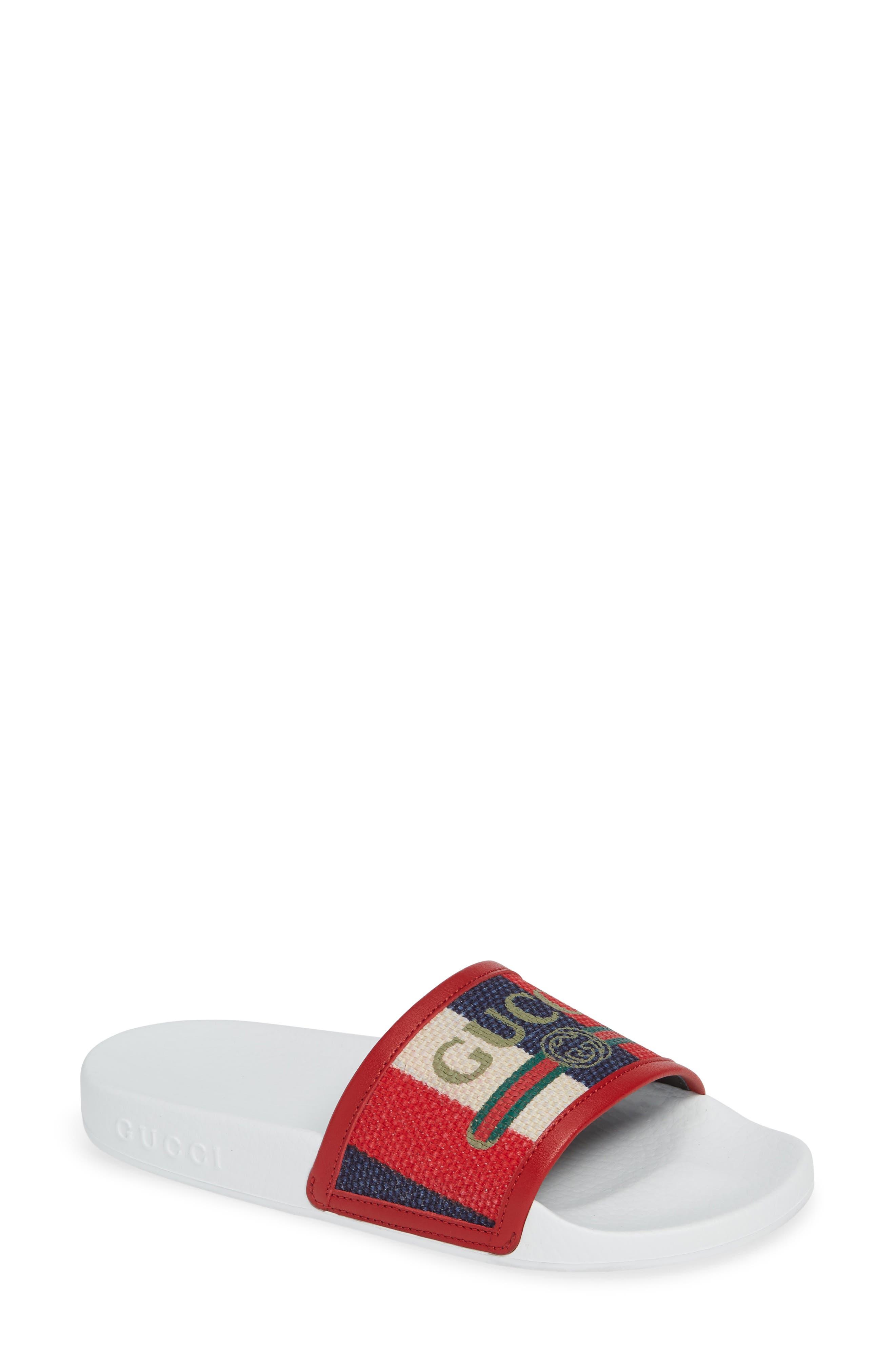 Sylvie Stripe Slide Sandal,                             Main thumbnail 1, color,                             100