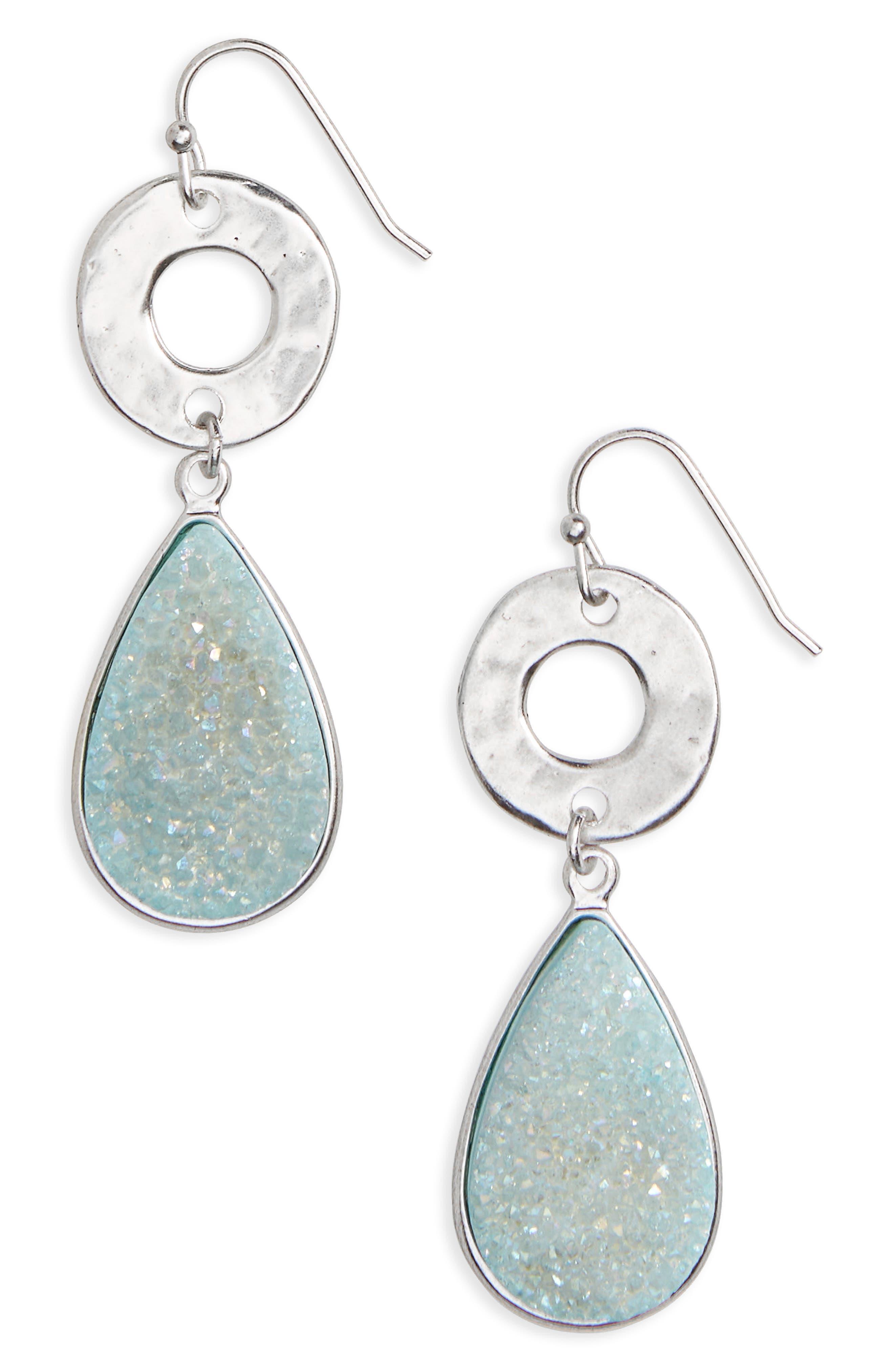 Drusy Drop Earrings,                             Main thumbnail 2, color,