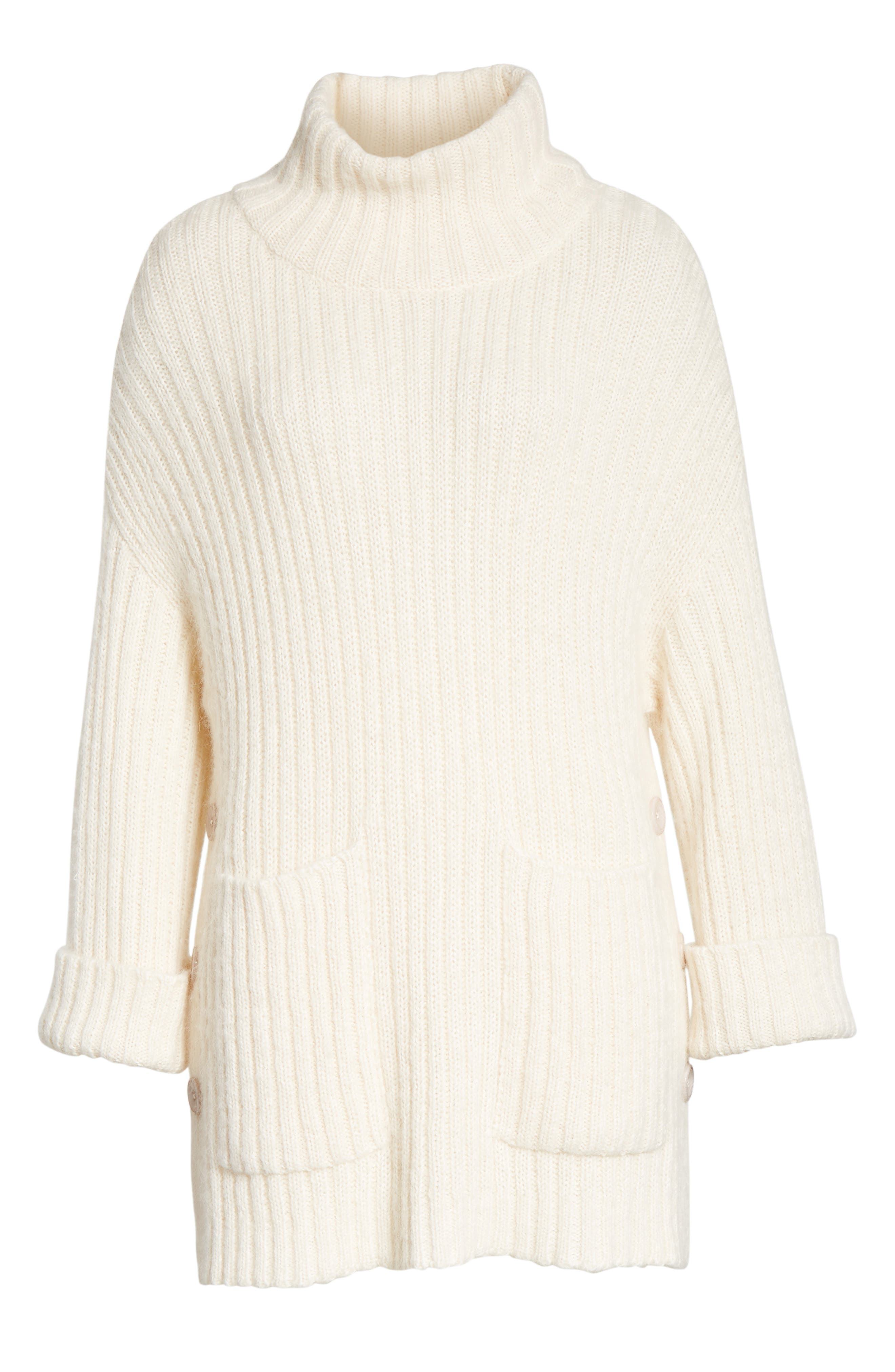 Banain Turtleneck Sweater,                             Alternate thumbnail 6, color,                             114