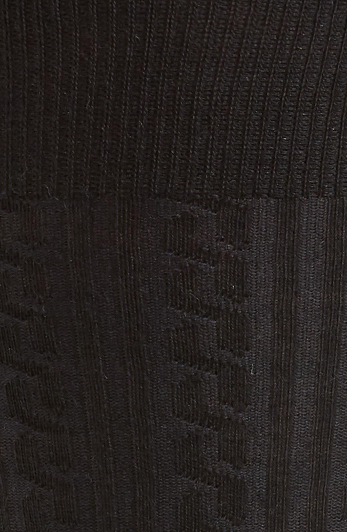 Cable Knit Merino Blend Socks,                             Alternate thumbnail 2, color,                             001