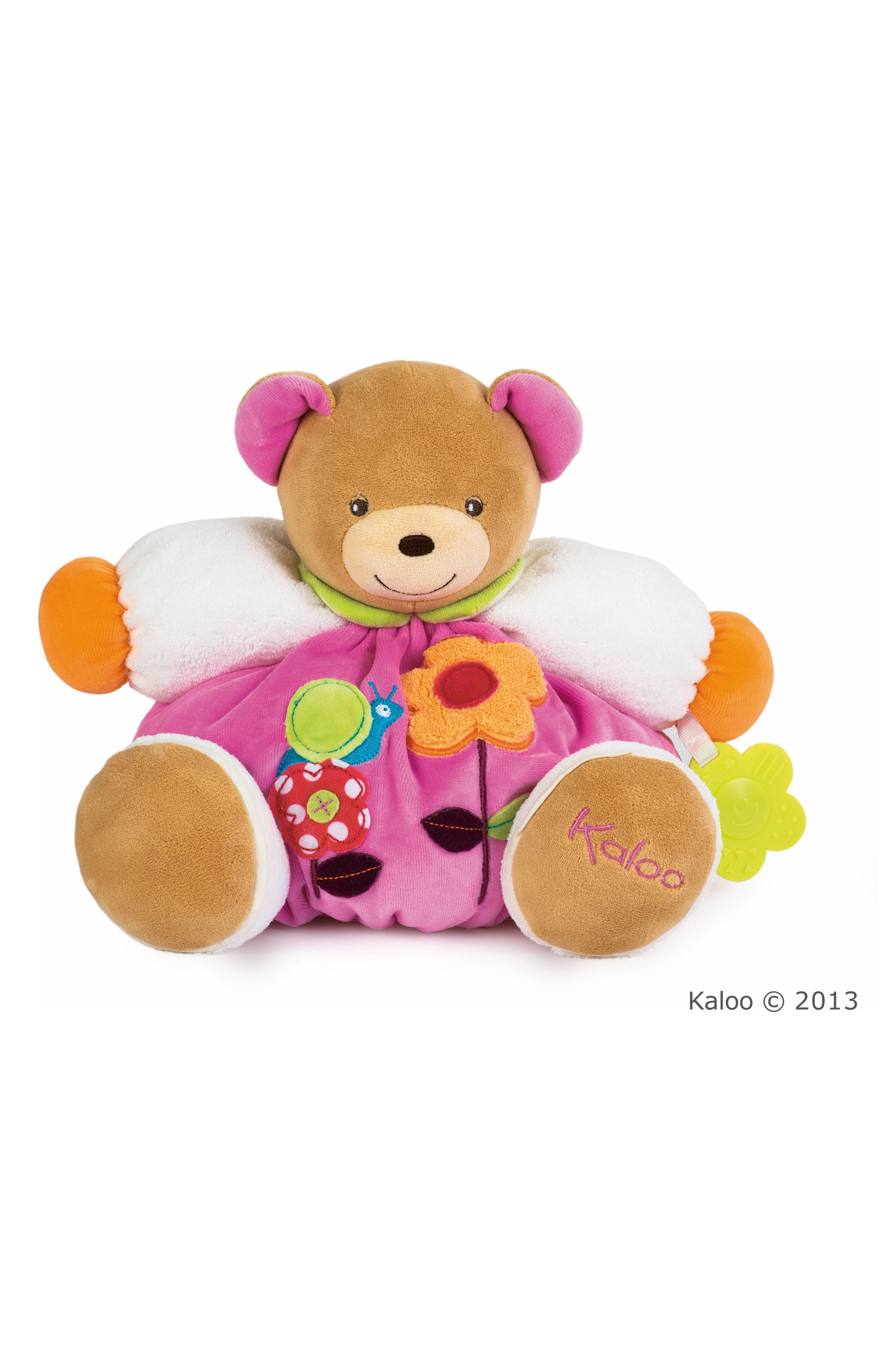 Flower Bear Stuffed Animal,                             Main thumbnail 1, color,                             MULTI