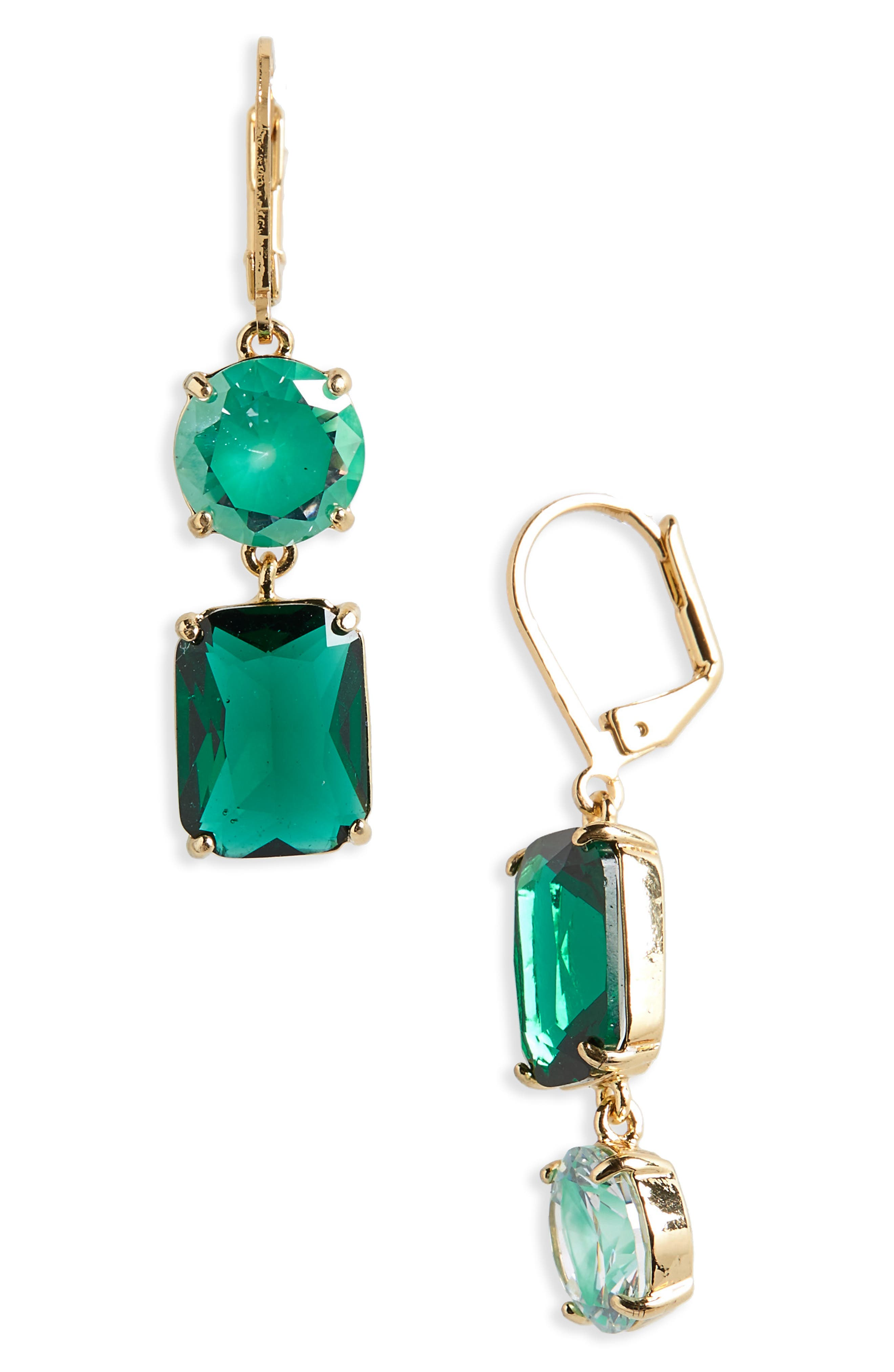 KATE SPADE NEW YORK kate spade shine on mismatched drop earrings, Main, color, 300