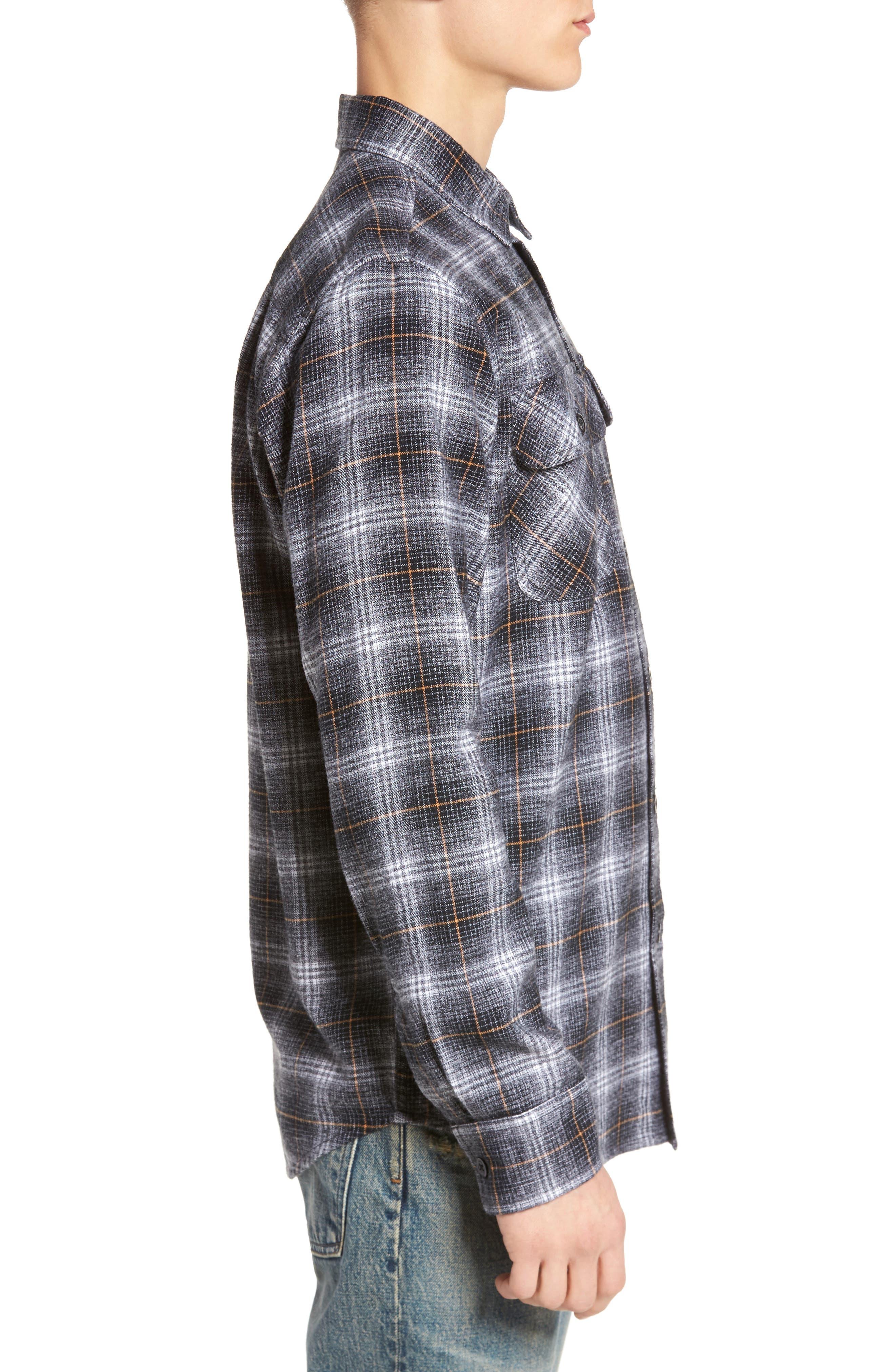 Shriner Flannel Shirt,                             Alternate thumbnail 3, color,                             002