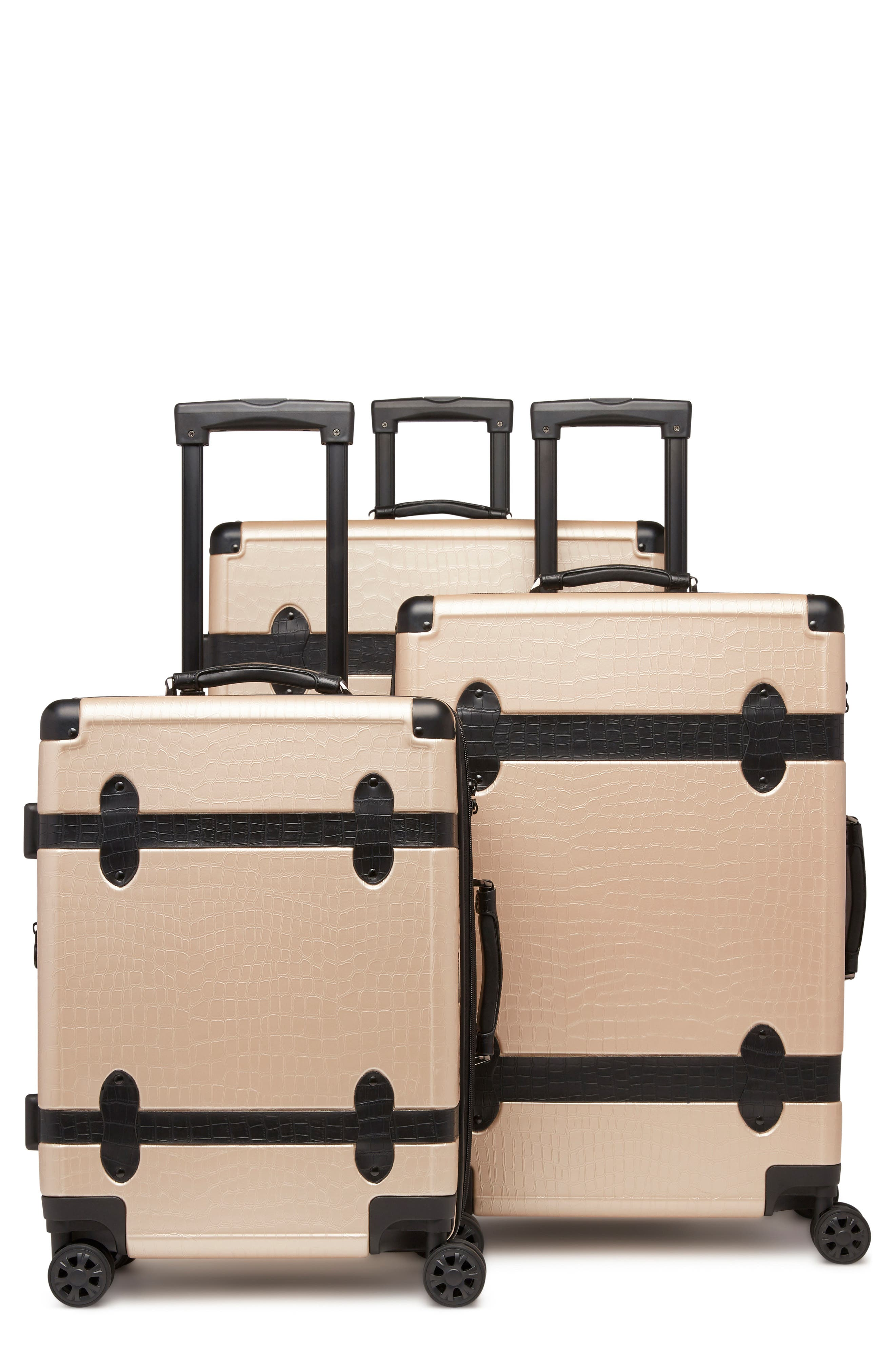 Pullman 3-Piece Spinner Luggage Set,                             Main thumbnail 1, color,                             NUDE