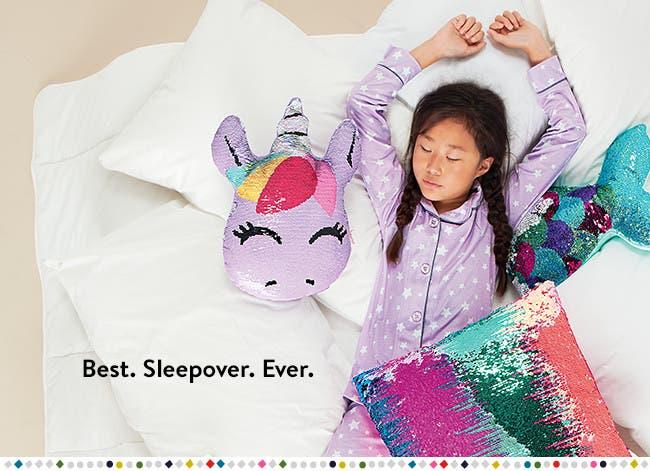 Best sleepover ever: kids' sleepover essentials.