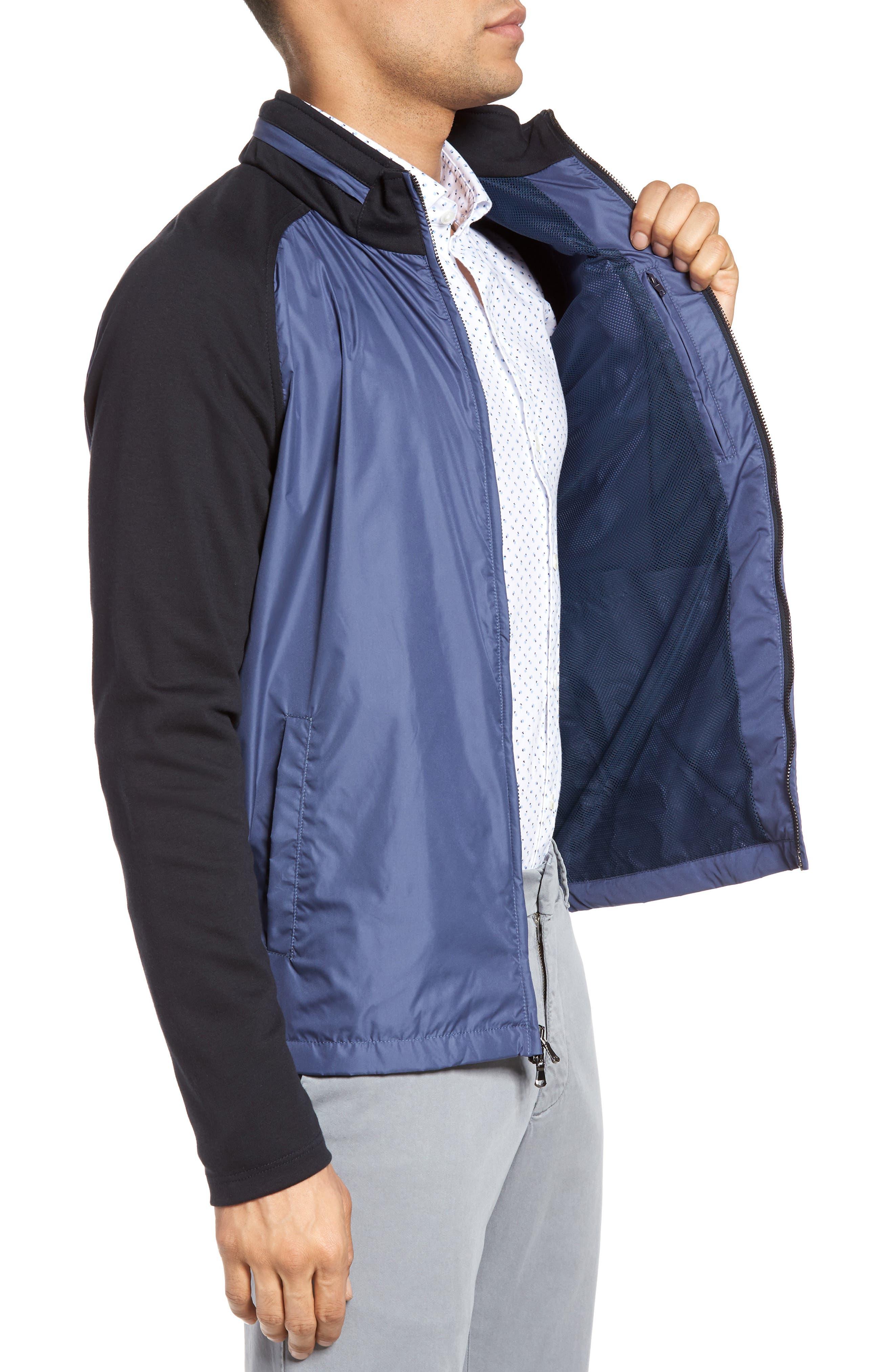 Syconium Mixed Media Zip Front Jacket,                             Alternate thumbnail 3, color,                             400