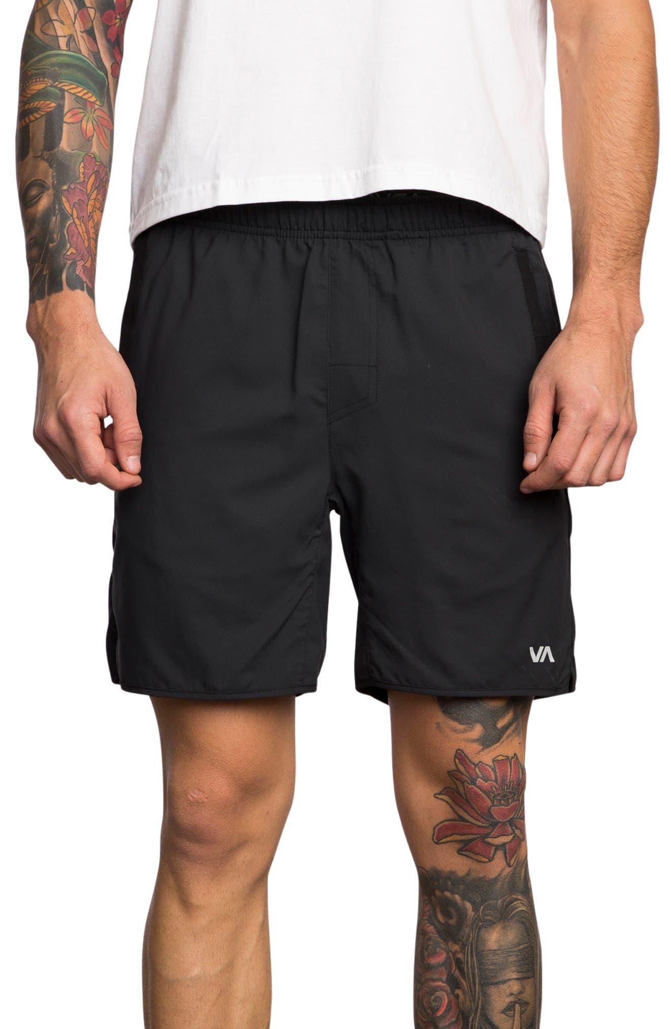 Spectrum Sport Shorts,                             Main thumbnail 1, color,                             BLACK