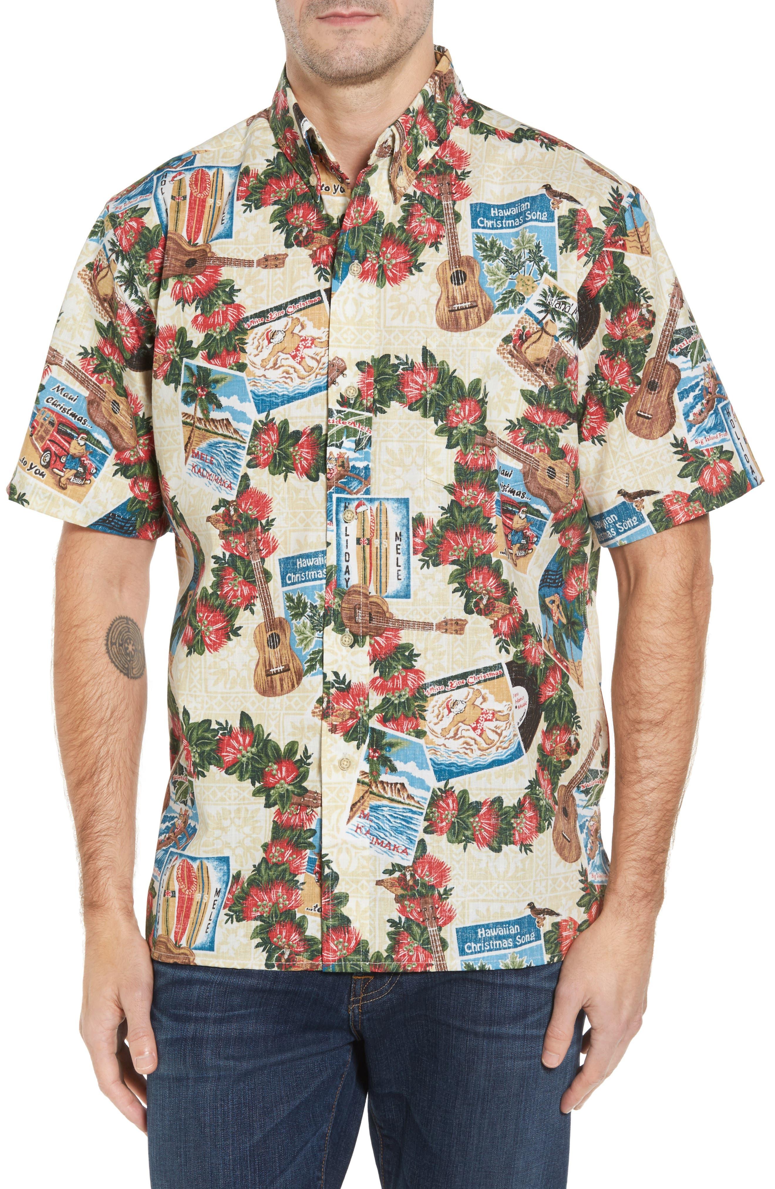 Hawaiian Christmas 2017 Sport Shirt,                         Main,                         color, 104
