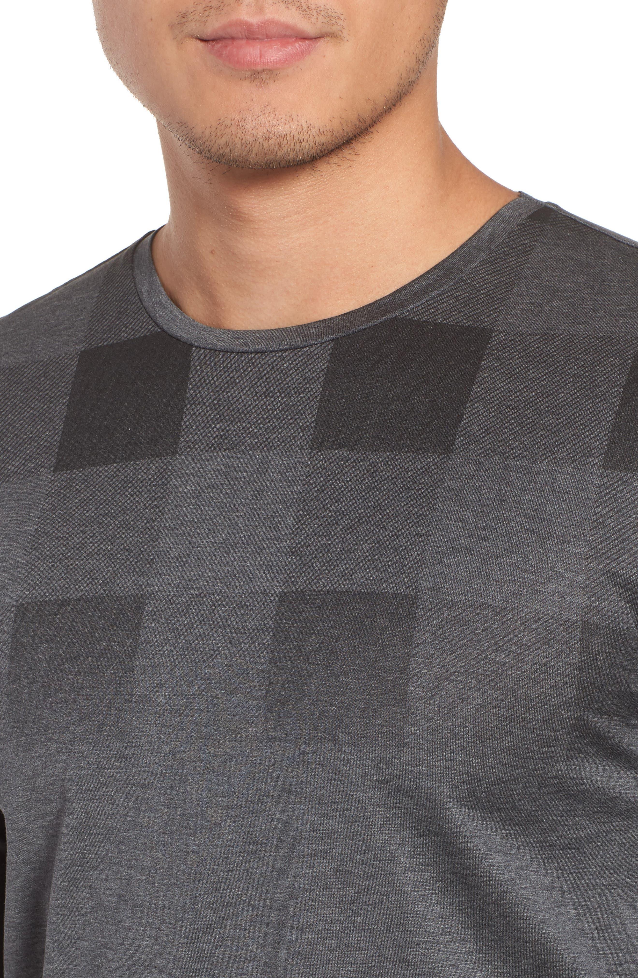 Tenison Slim Fit Ombre Check Long Sleeve T-shirt,                             Alternate thumbnail 4, color,                             030
