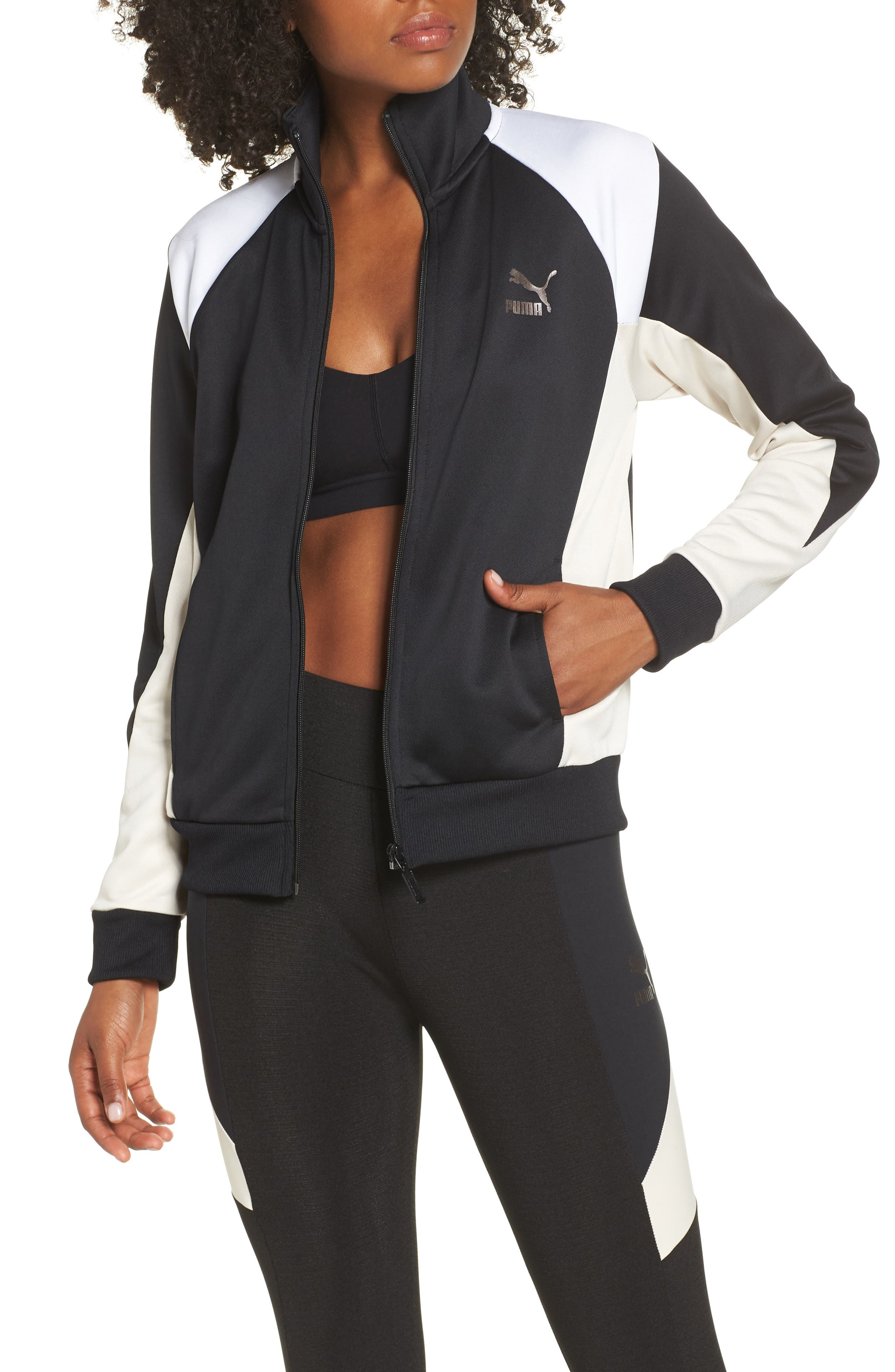 Retro Track Jacket,                         Main,                         color, PUMA BLACK