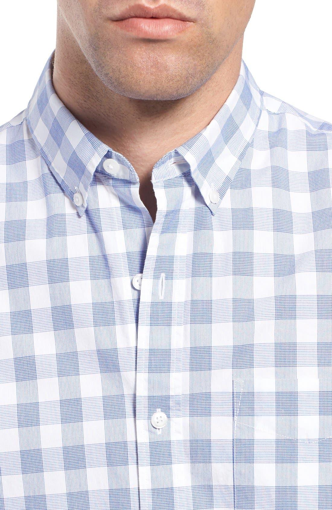Slim Fit Check Sport Shirt,                             Alternate thumbnail 4, color,                             400