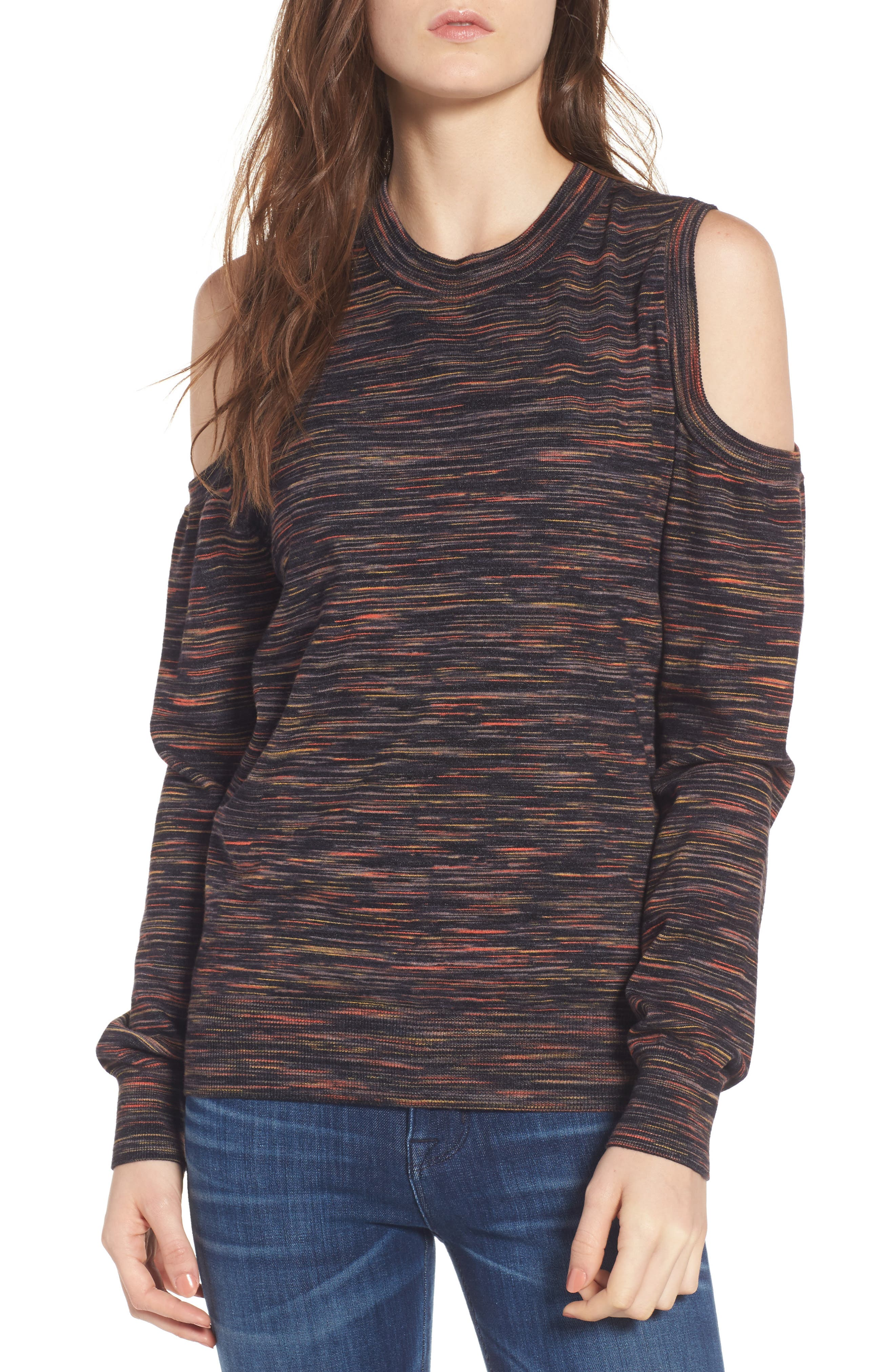 Page Cold Shoulder Sweater,                         Main,                         color, 021