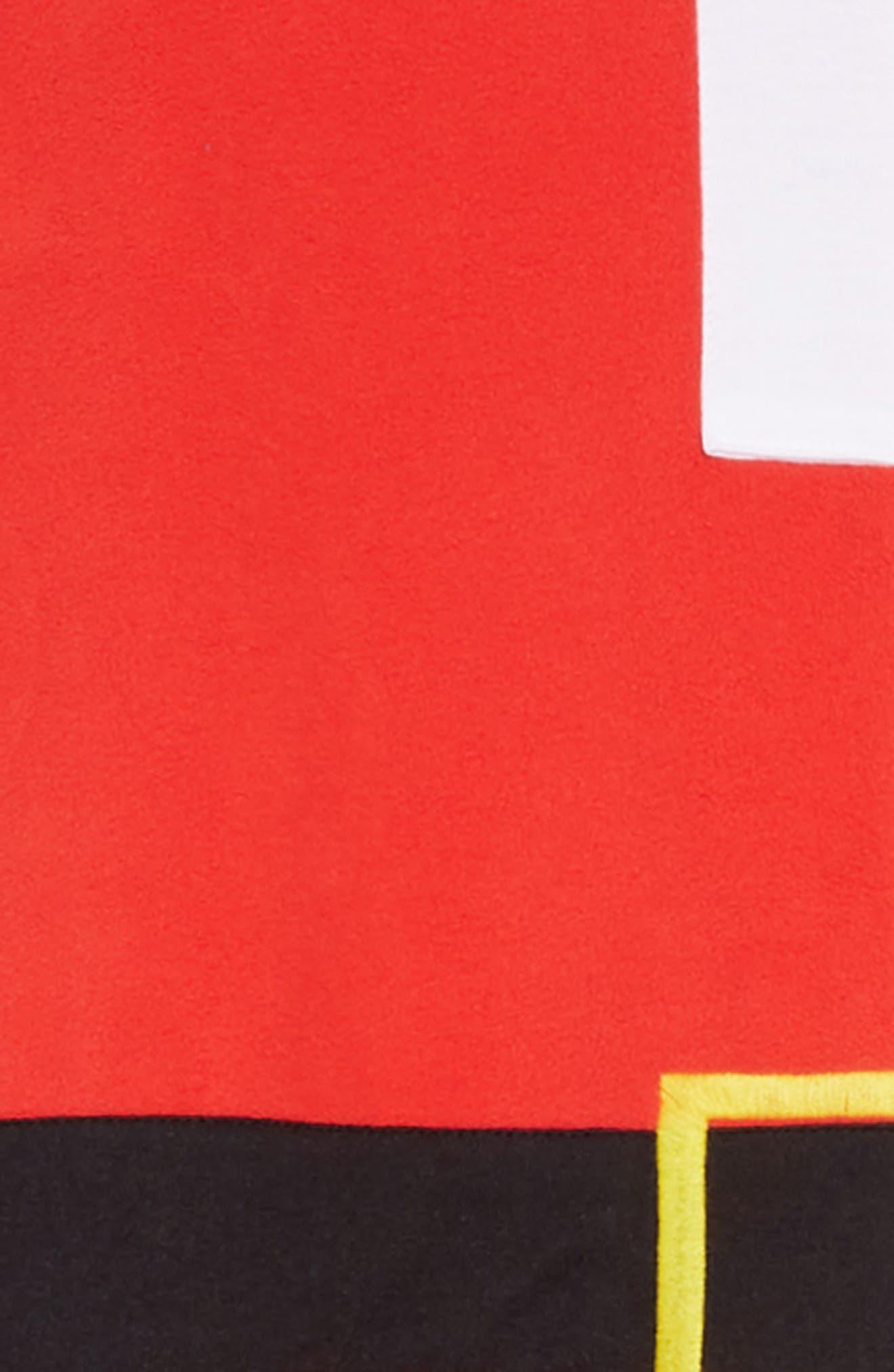 Santa Hooded One-Piece Pajamas,                             Alternate thumbnail 2, color,                             RED BLOOM SANTA SUIT