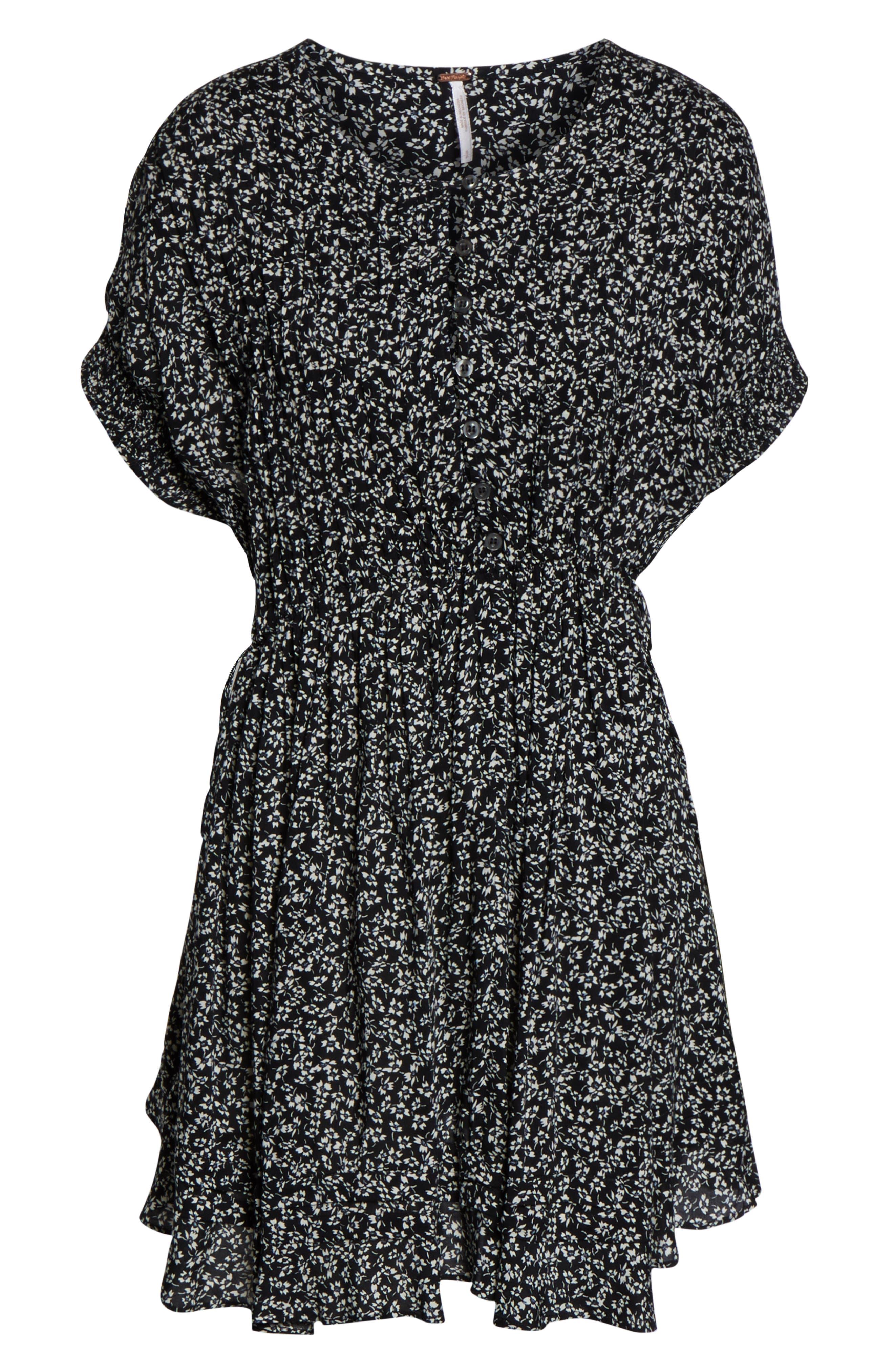 One Fine Day Minidress,                             Alternate thumbnail 6, color,                             BLACK COMBO