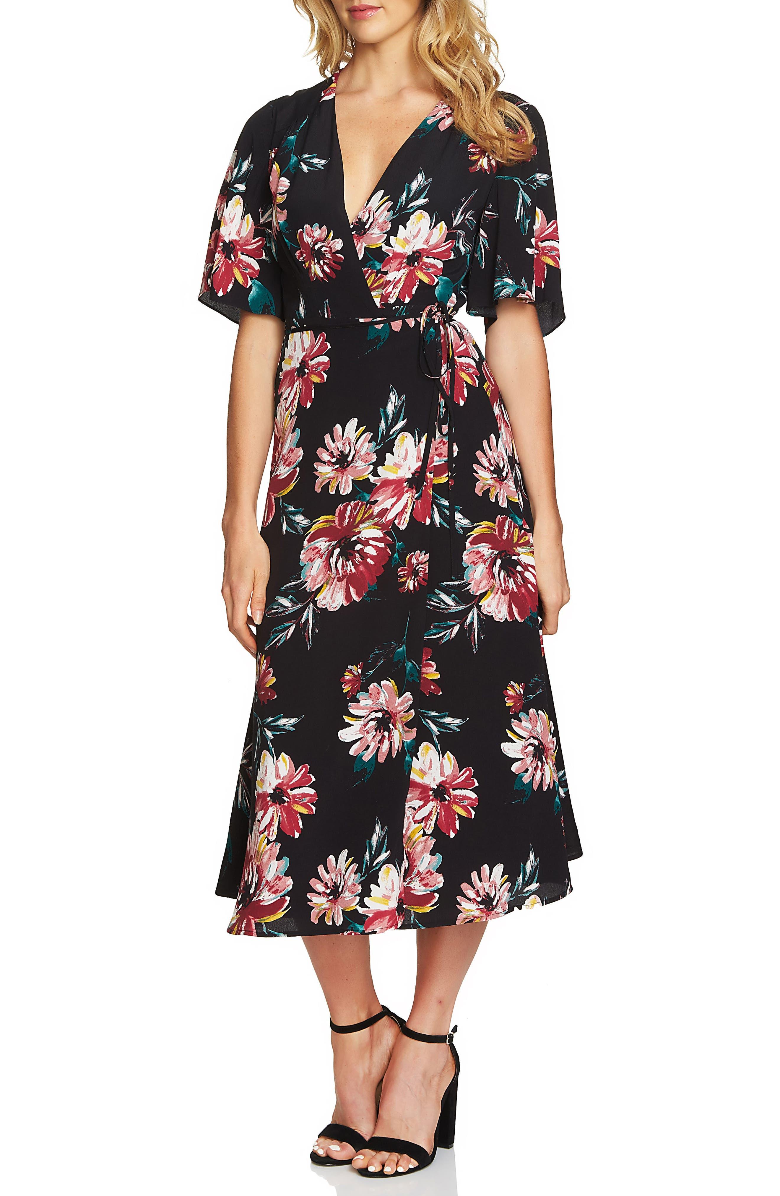 Wrap Maxi Dress,                             Main thumbnail 1, color,                             010