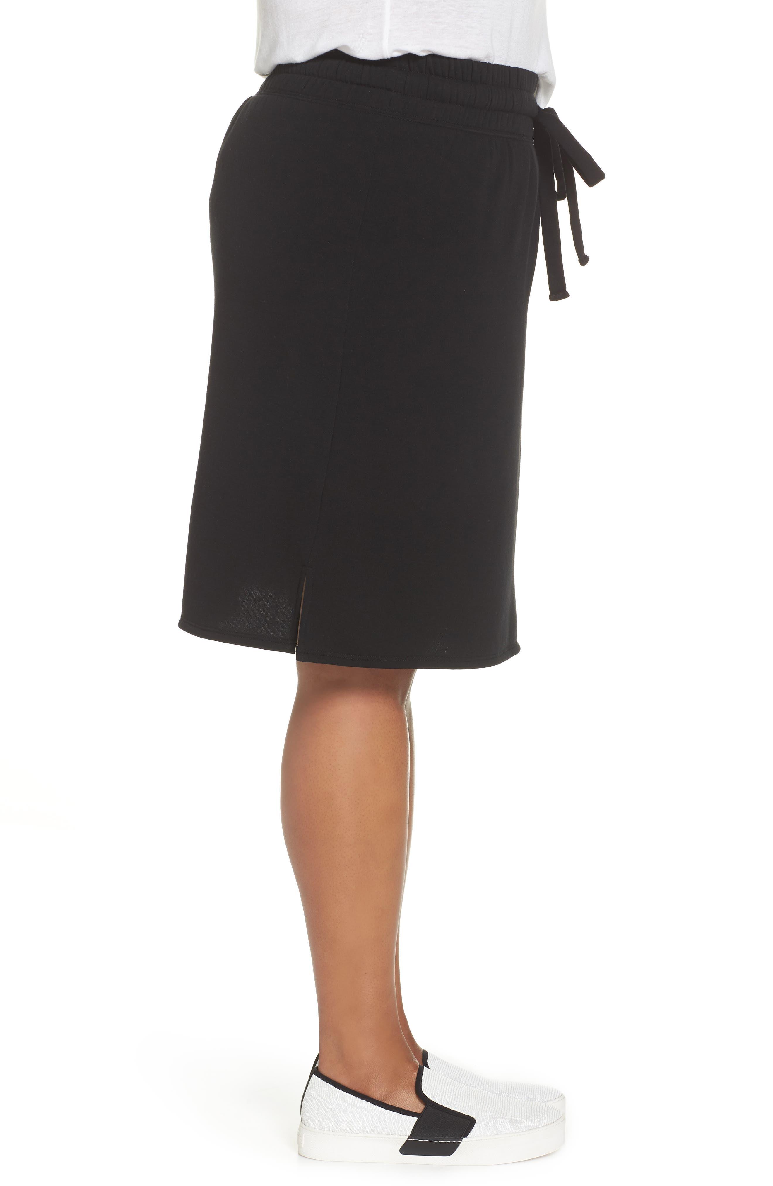 Off-Duty Tie Waist Miniskirt,                             Alternate thumbnail 3, color,                             001