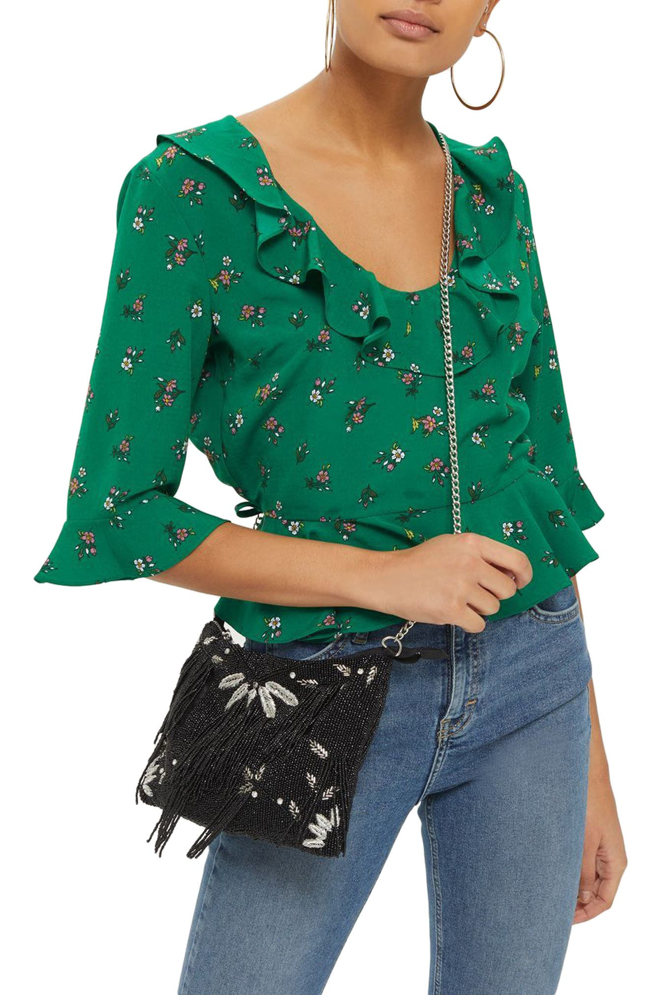 Phoebe Frilly Blouse,                             Main thumbnail 2, color,