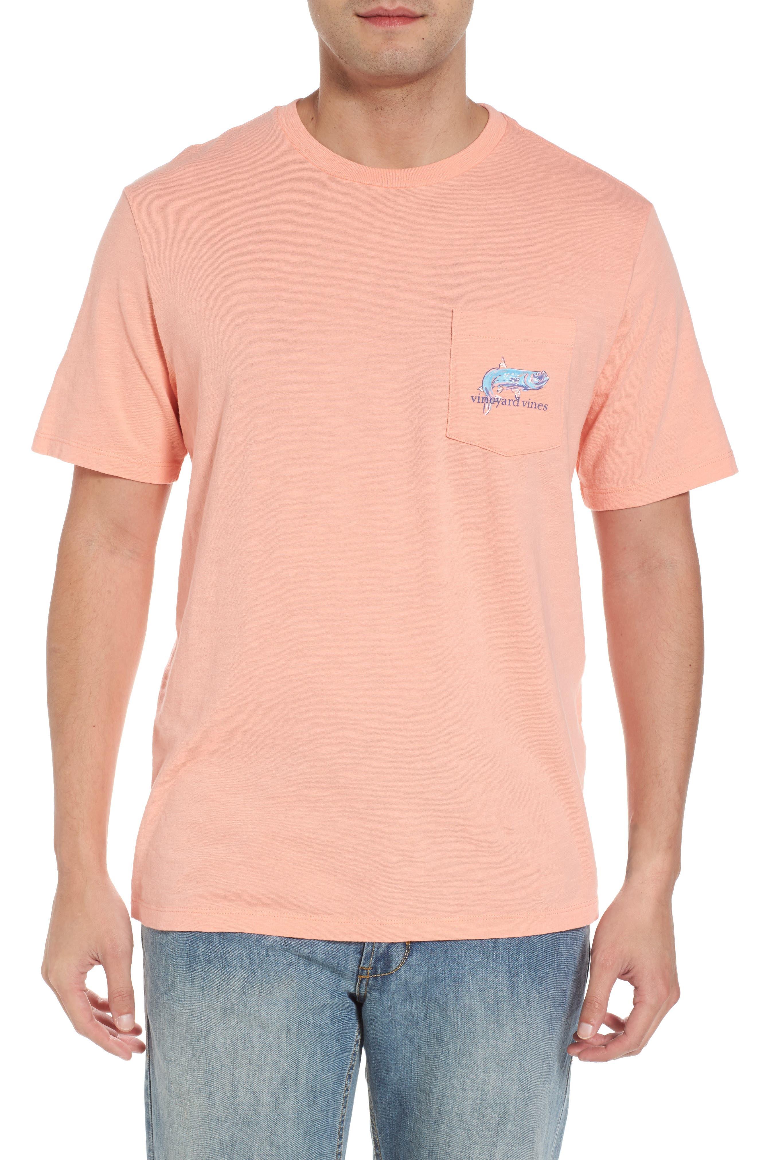 Painted Tarpon Graphic Pocket T-Shirt,                         Main,                         color, 821