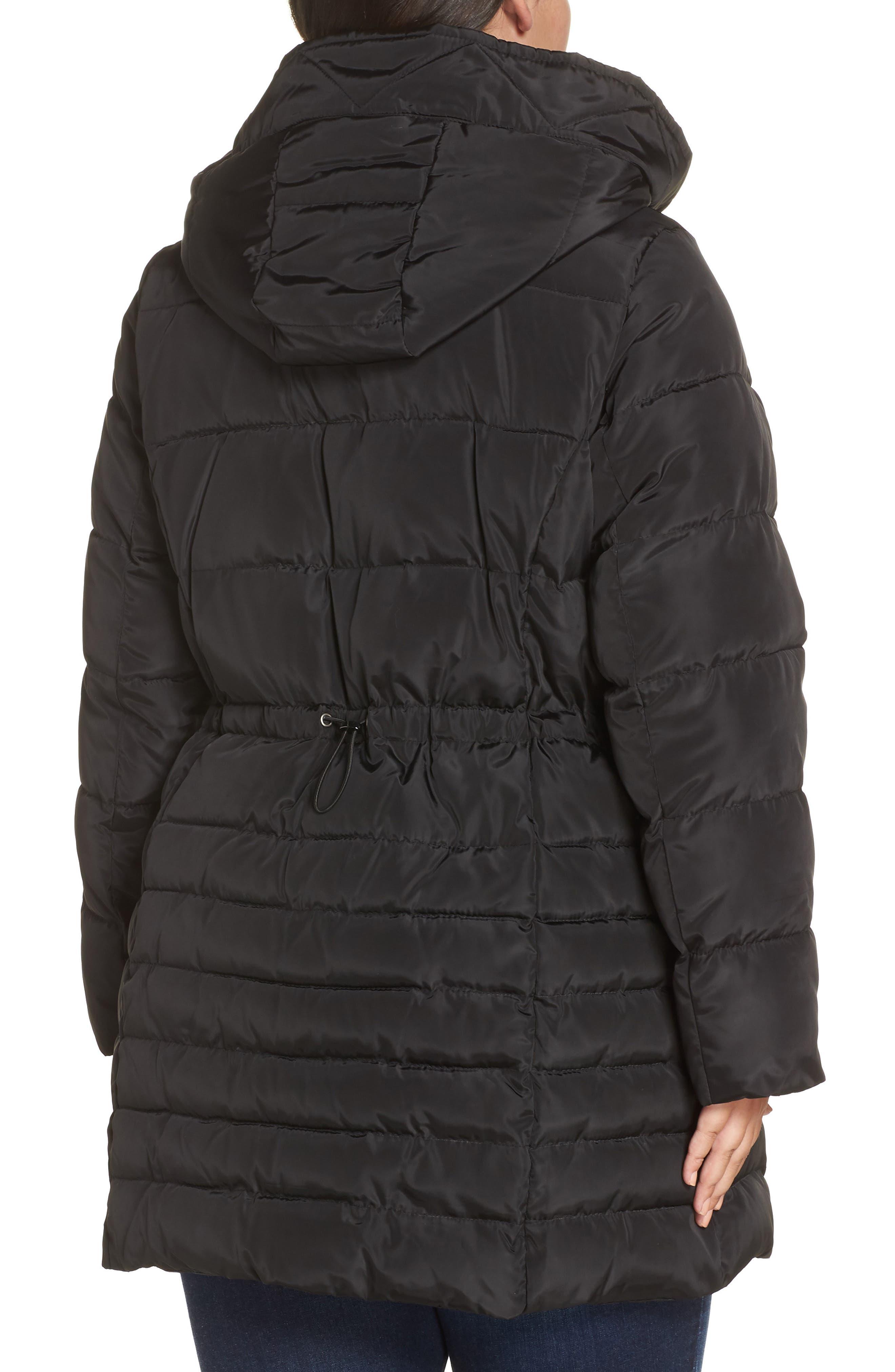 Matte Finish Puffer Coat,                             Alternate thumbnail 2, color,                             BLACK