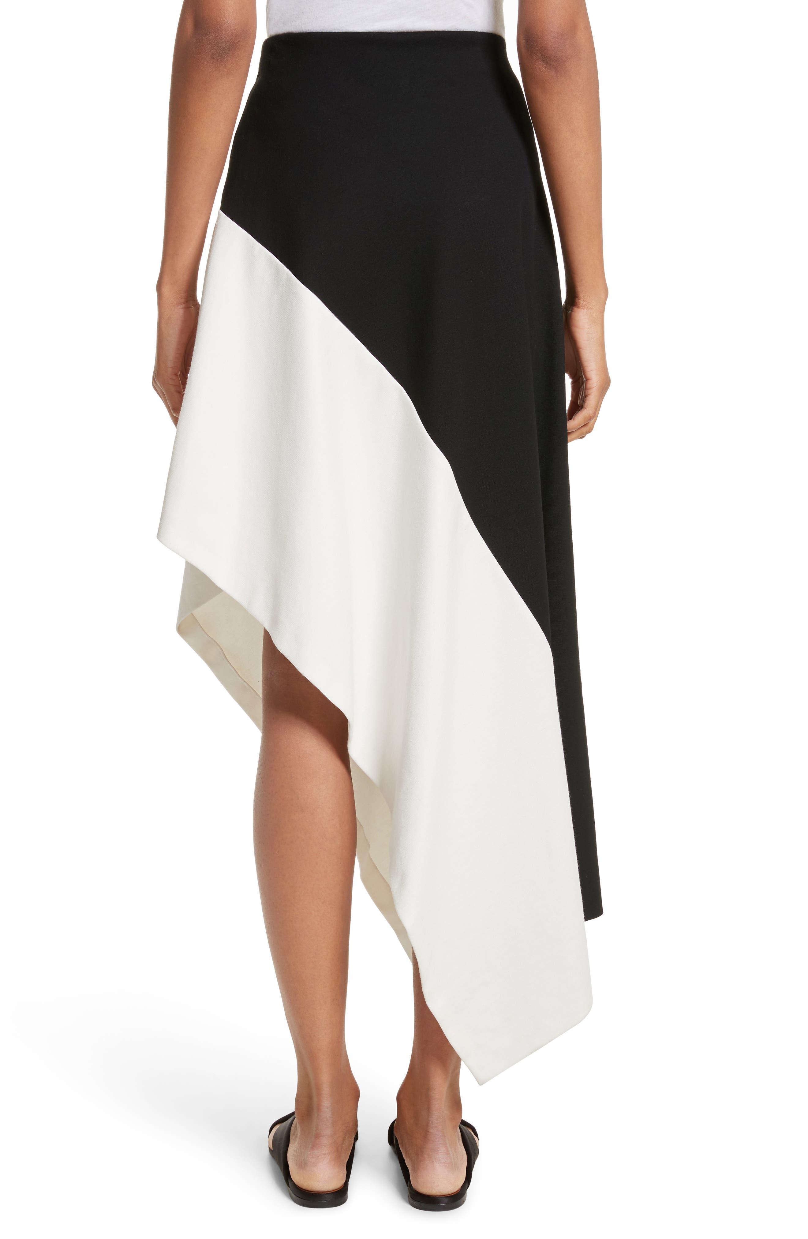 Slashed Panel Jersey Skirt,                             Alternate thumbnail 2, color,