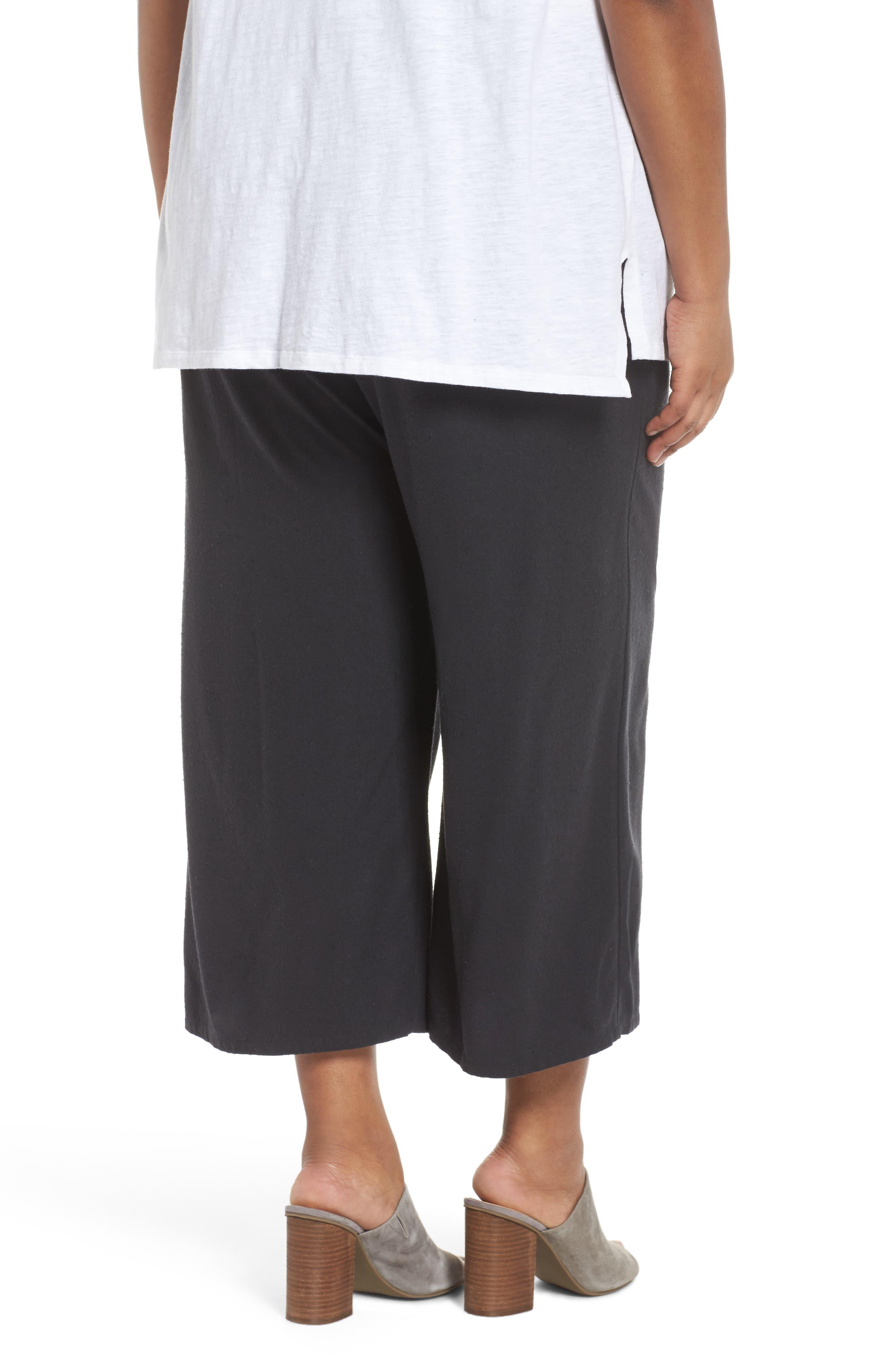 Silk Noil Wide Leg Pants,                             Alternate thumbnail 2, color,                             025