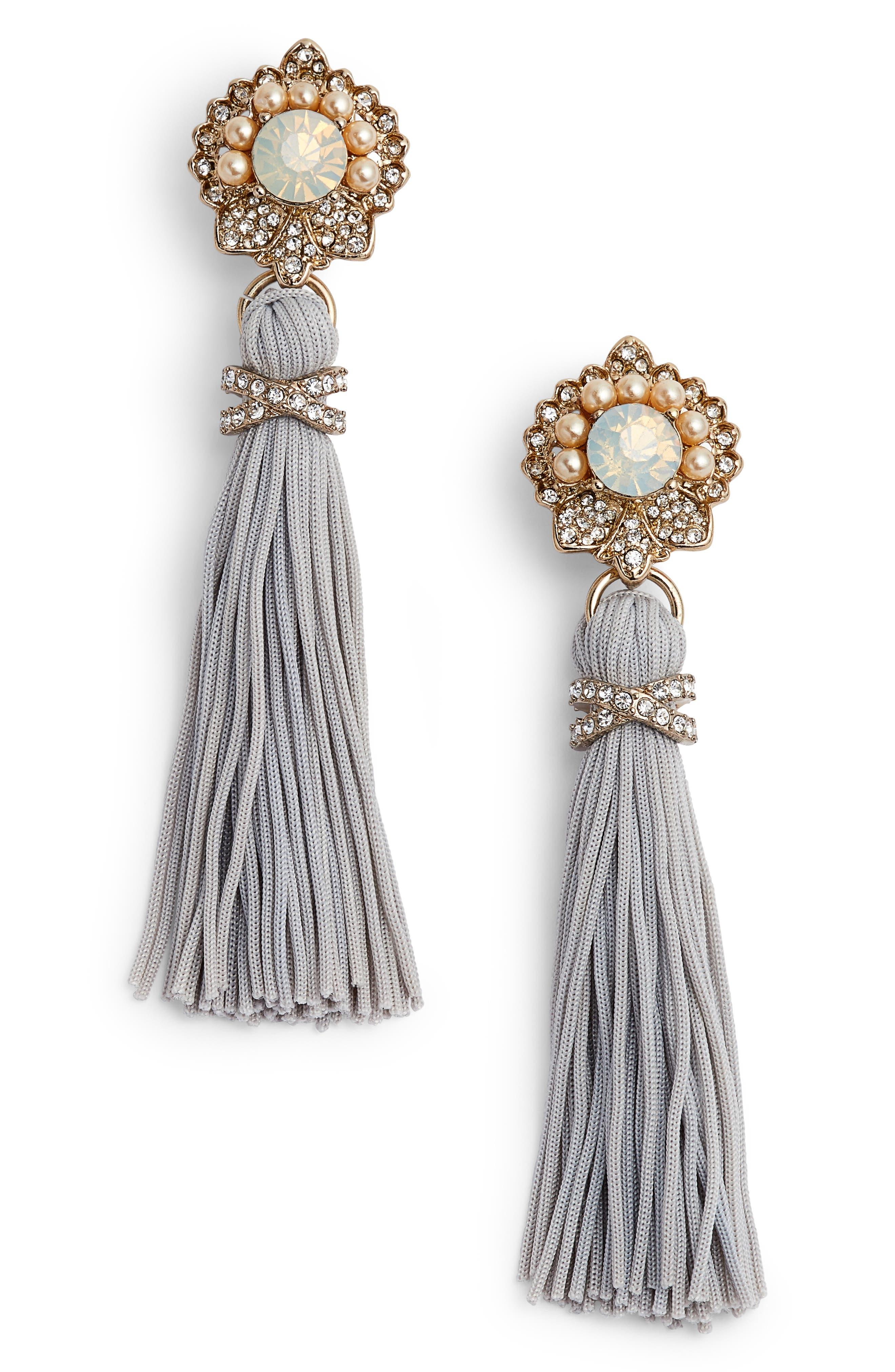 Tassel Drop Earrings,                             Main thumbnail 1, color,                             020