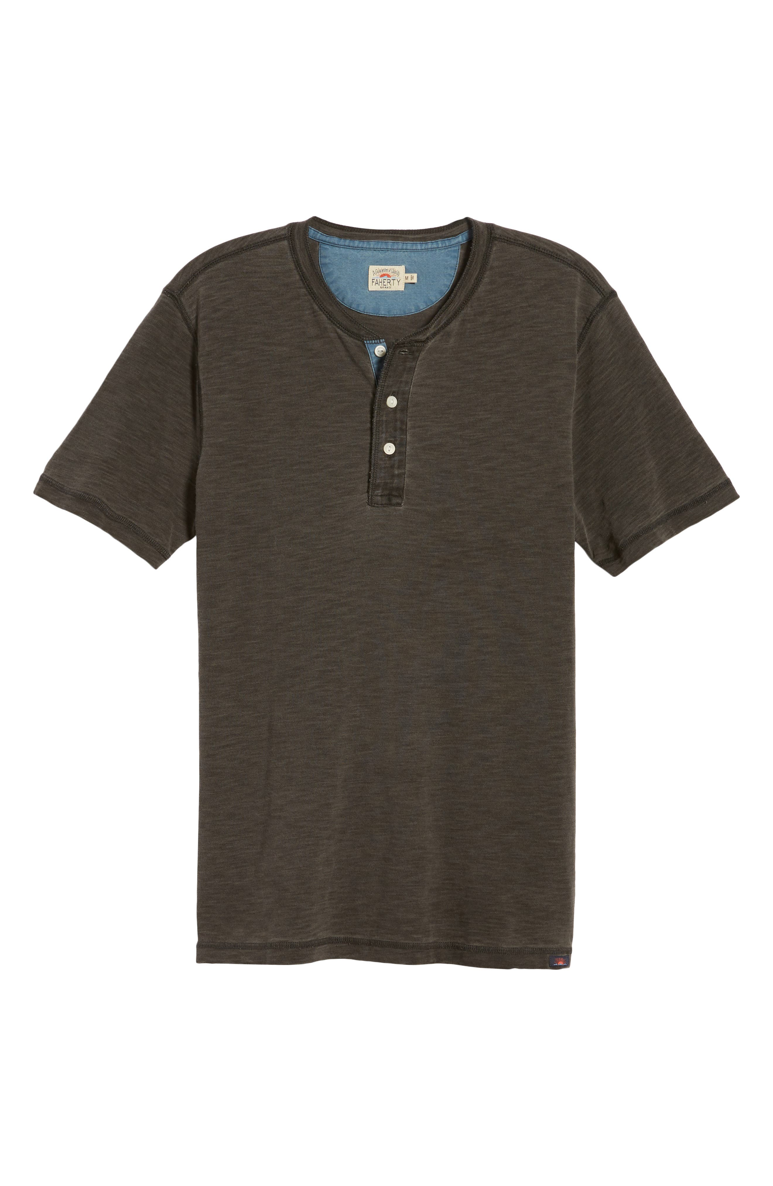Short Sleeve Henley,                             Alternate thumbnail 6, color,                             001
