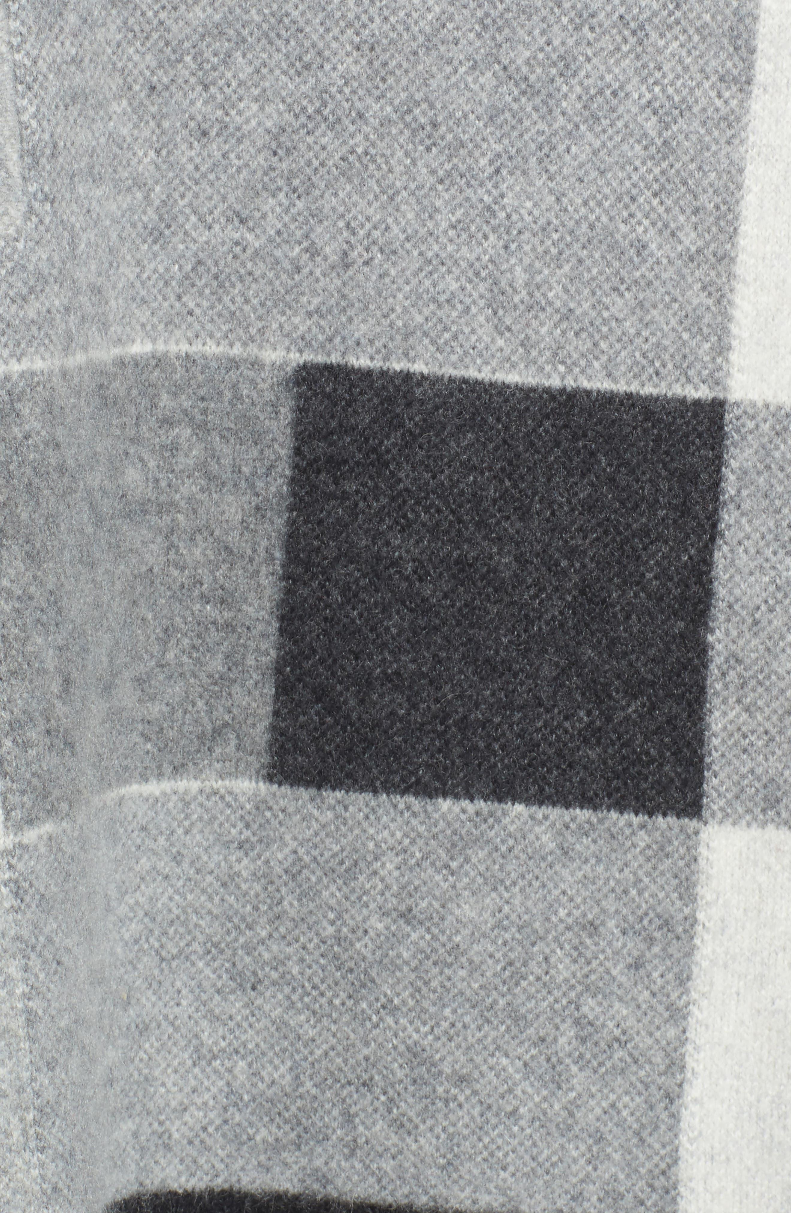 Check Plaid Cashmere Sweater,                             Alternate thumbnail 5, color,