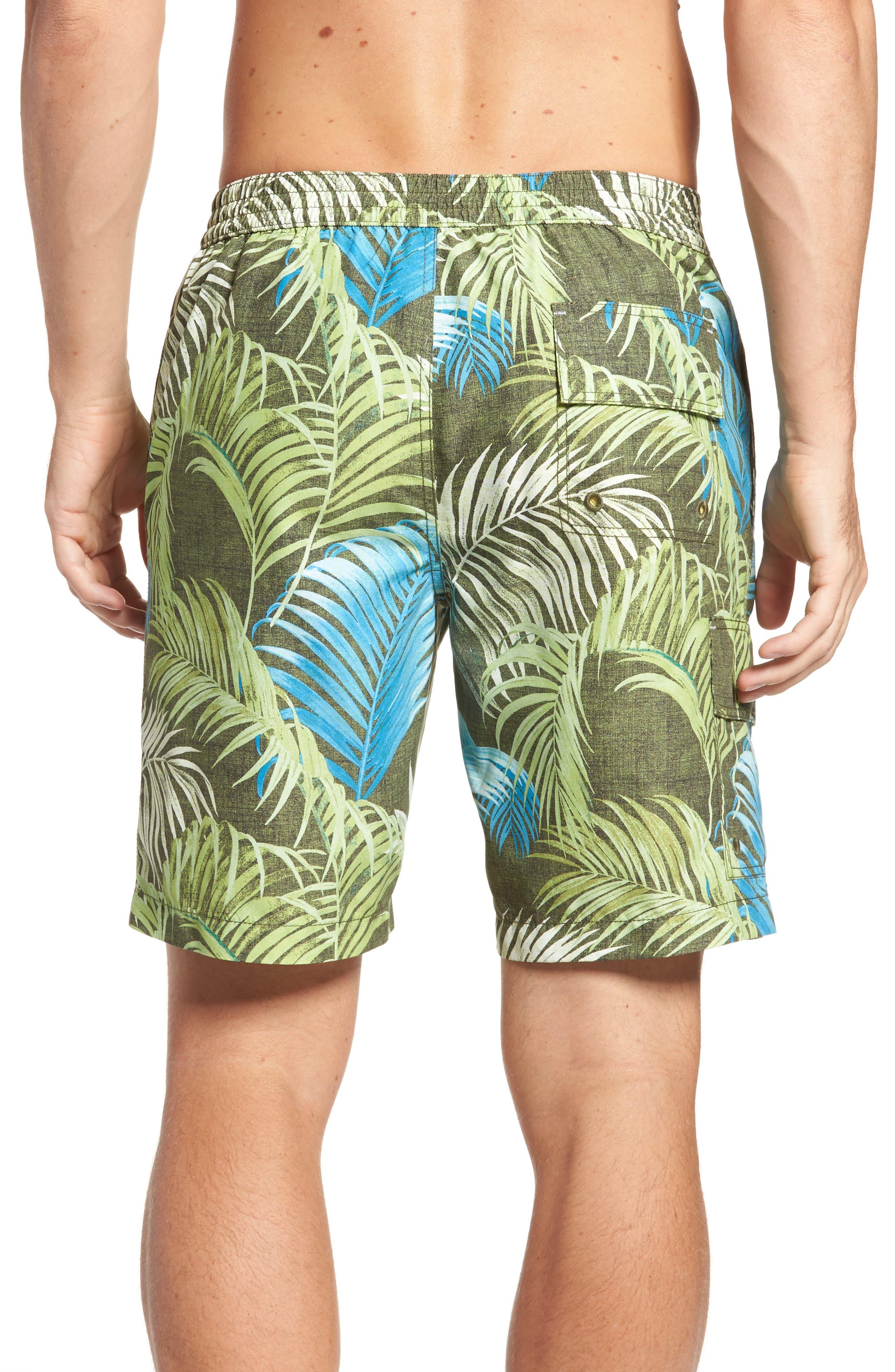 Baja Fez Frond Board Shorts,                             Alternate thumbnail 2, color,