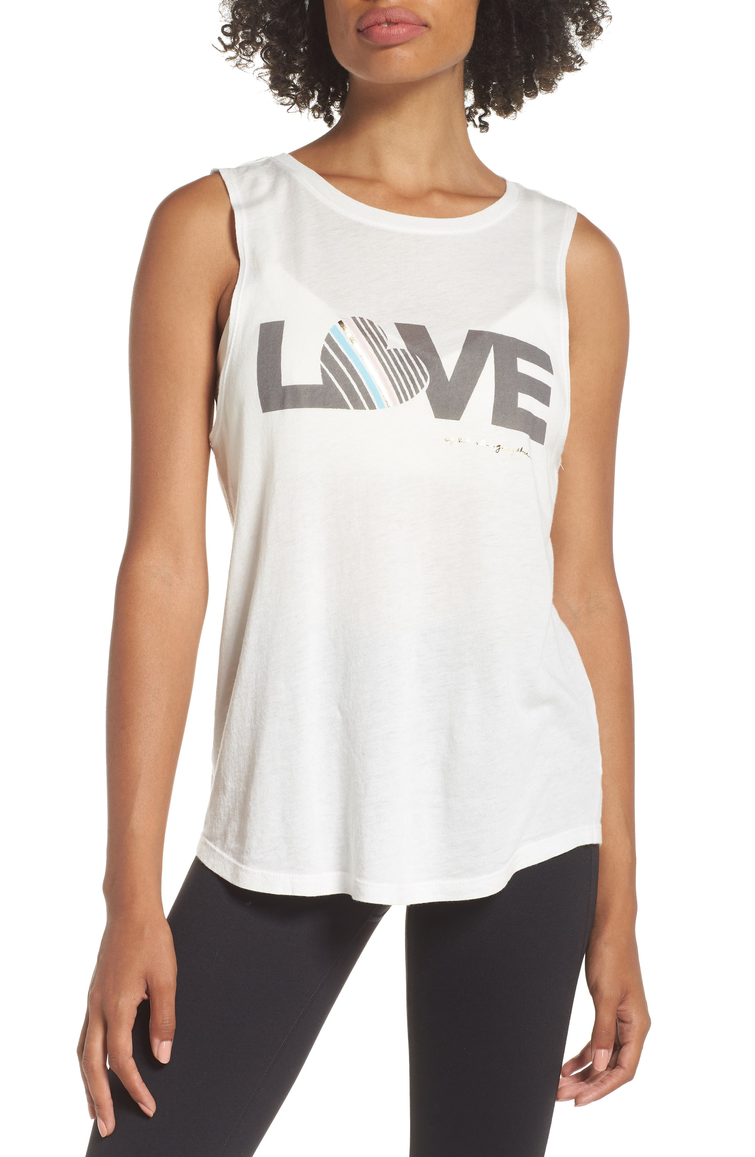 Love Muscle Tee,                             Main thumbnail 1, color,                             STARDUST