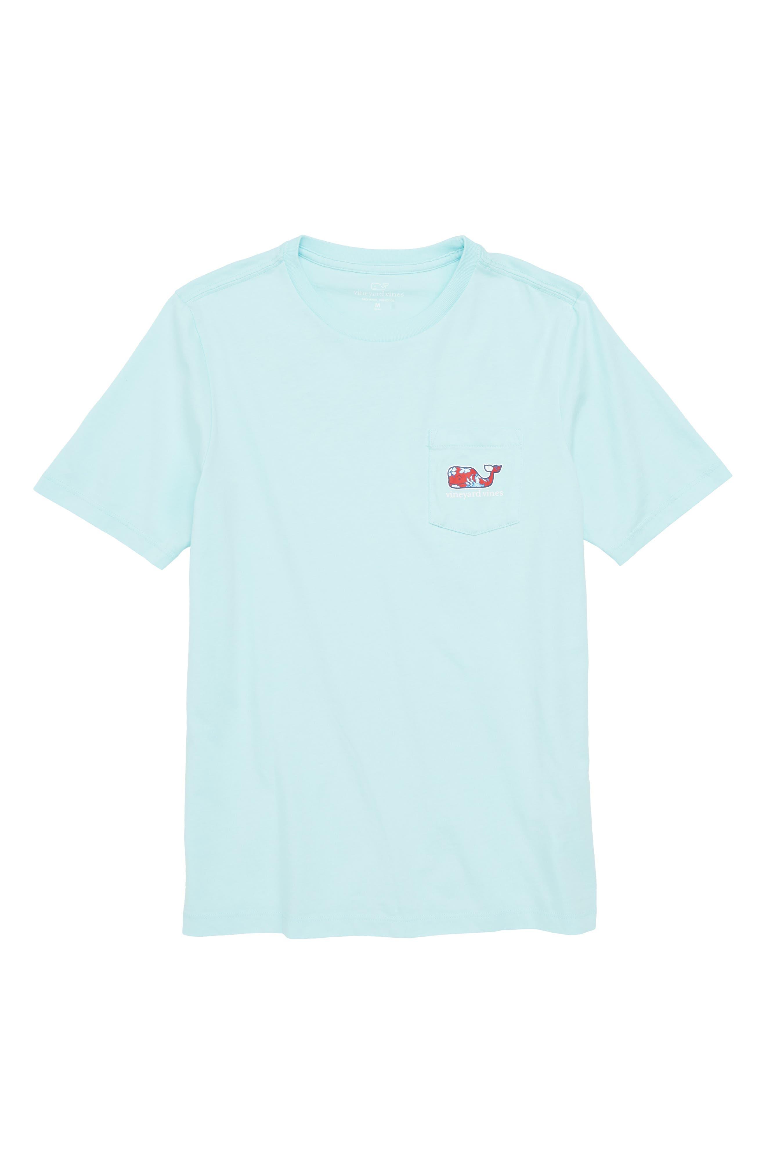Crab & Flowers Whale Pocket T-Shirt,                         Main,                         color,