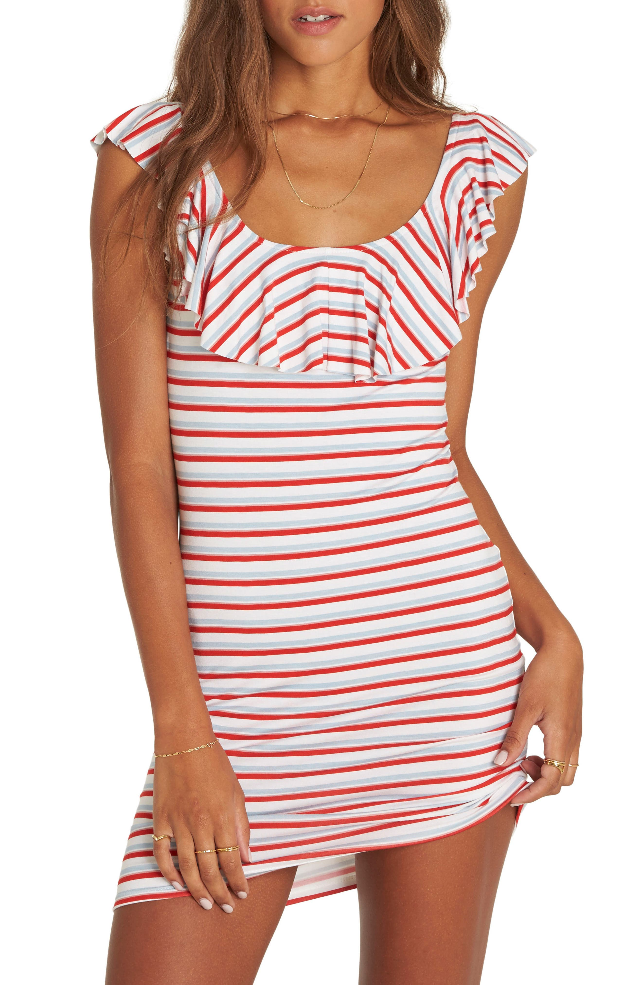 No Frills Stripe Minidress,                         Main,                         color, 100