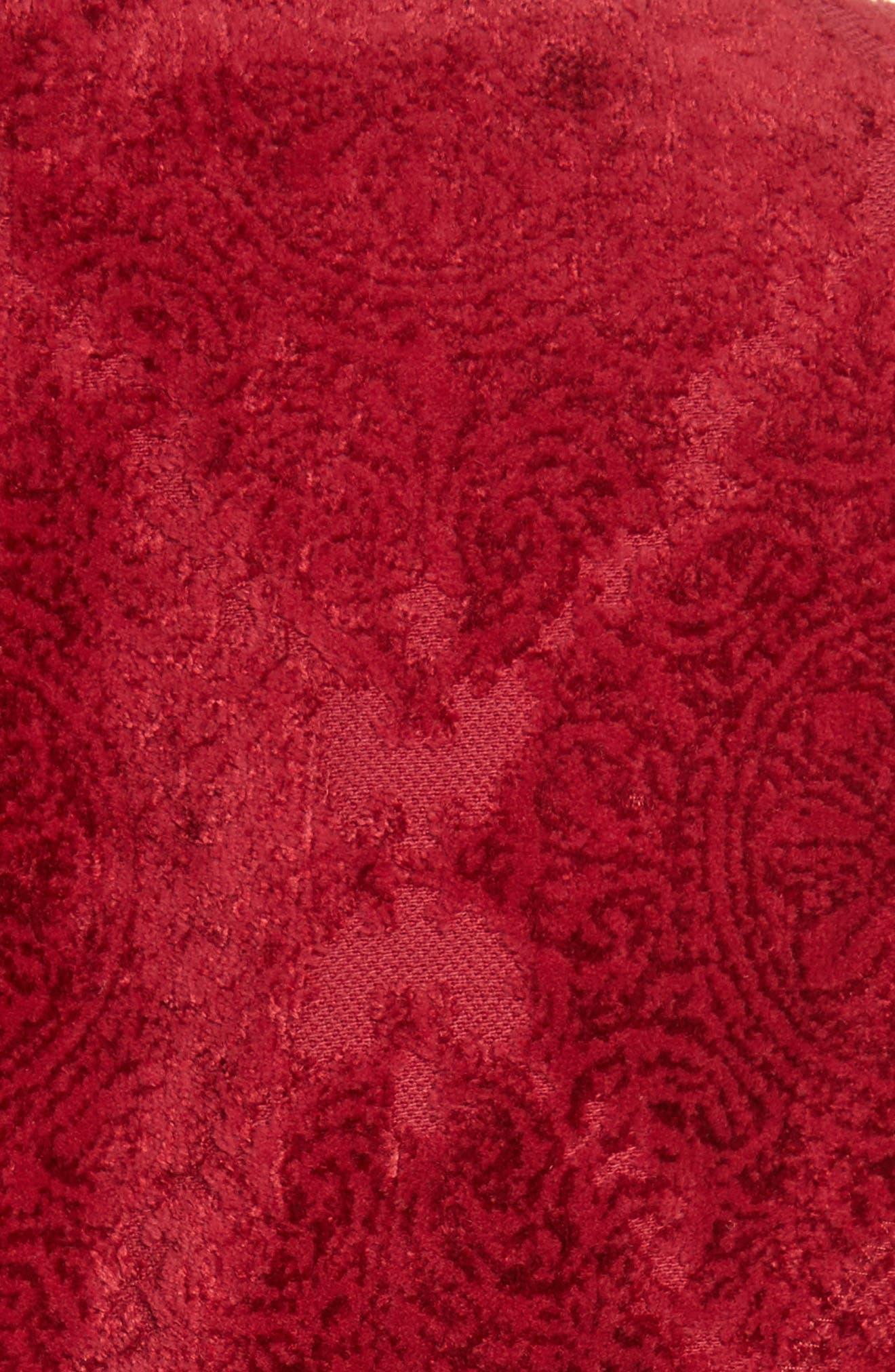 Detachable Sleeve Flocked Velvet Dress,                             Alternate thumbnail 5, color,                             600