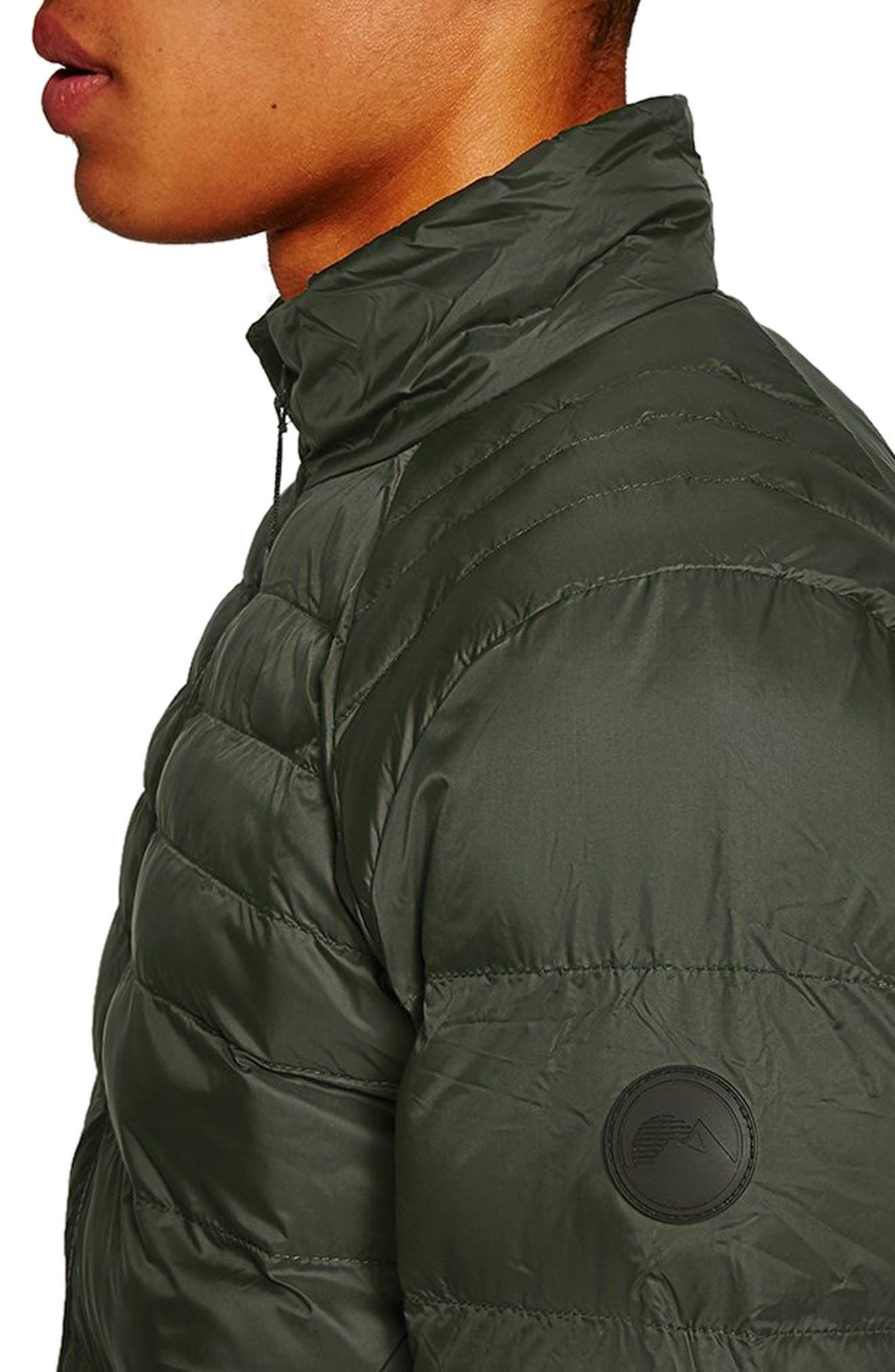 Mitchell Quiilted Nylon Jacket,                             Alternate thumbnail 4, color,                             GREEN