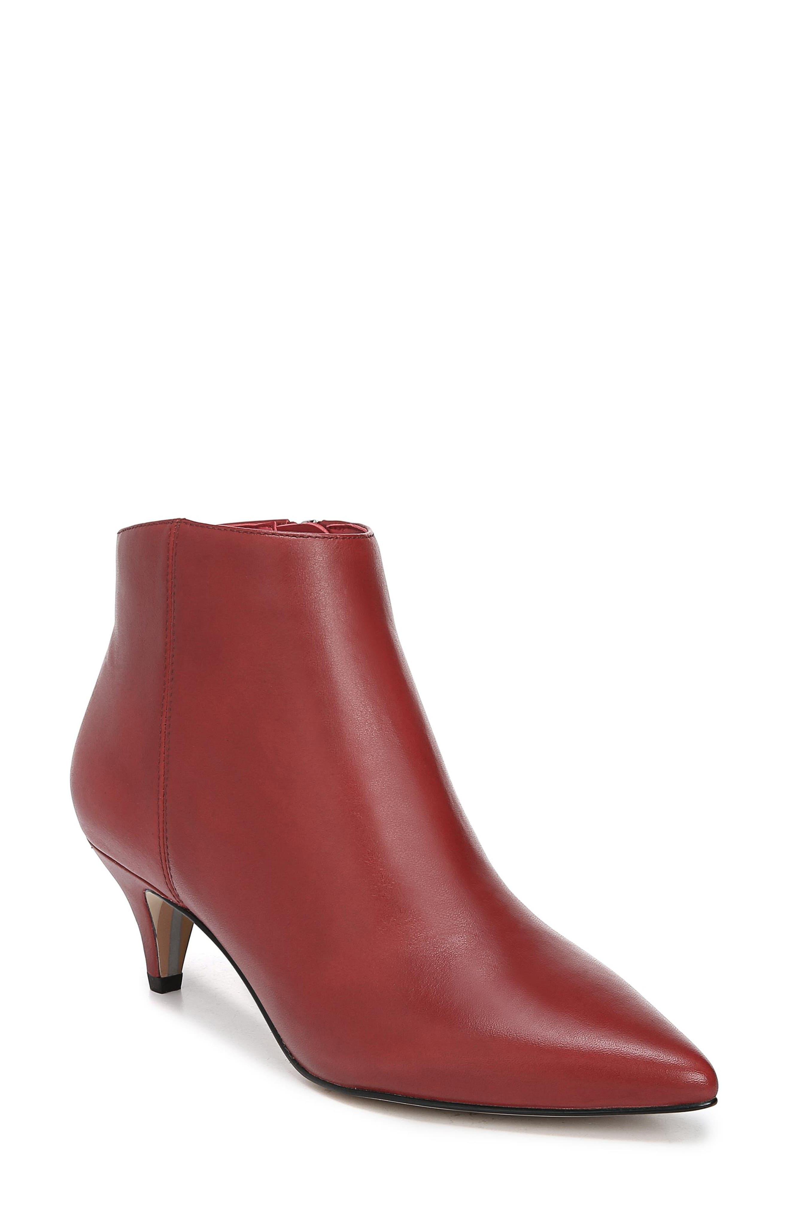 Sam Edelman Kinzey Pointy Toe Bootie- Red
