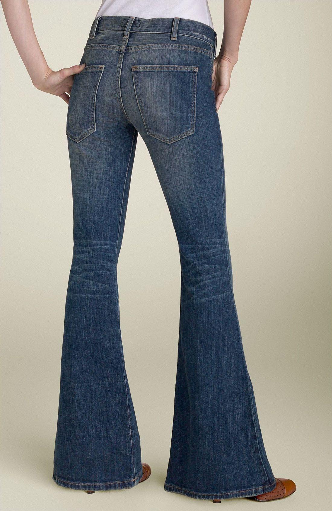 CURRENT/ELLIOTT,                             'The Elephant Bell' Flare Leg Stretch Jeans,                             Alternate thumbnail 2, color,                             465