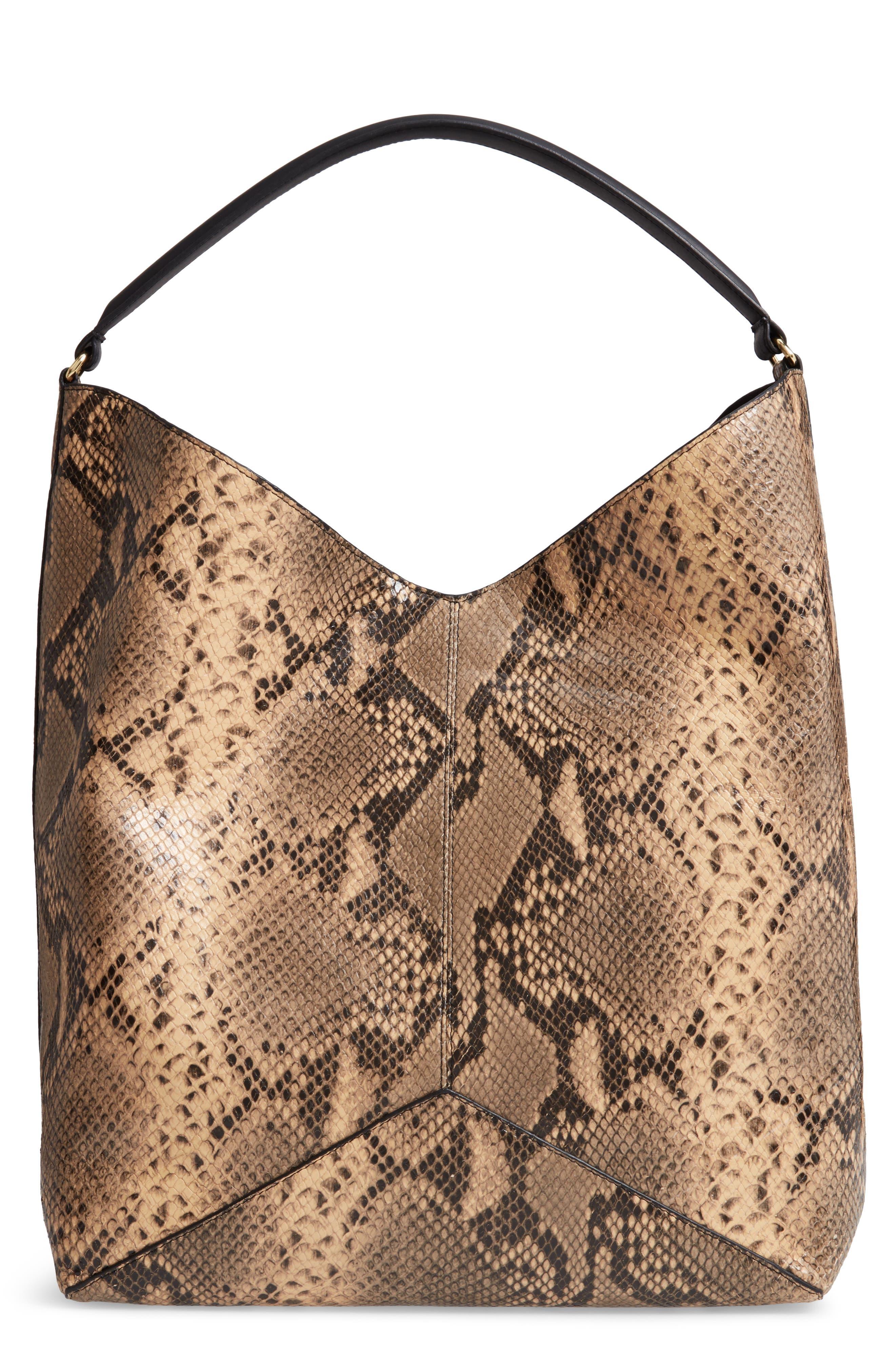 Leather Hobo Bag,                         Main,                         color, CAMEL