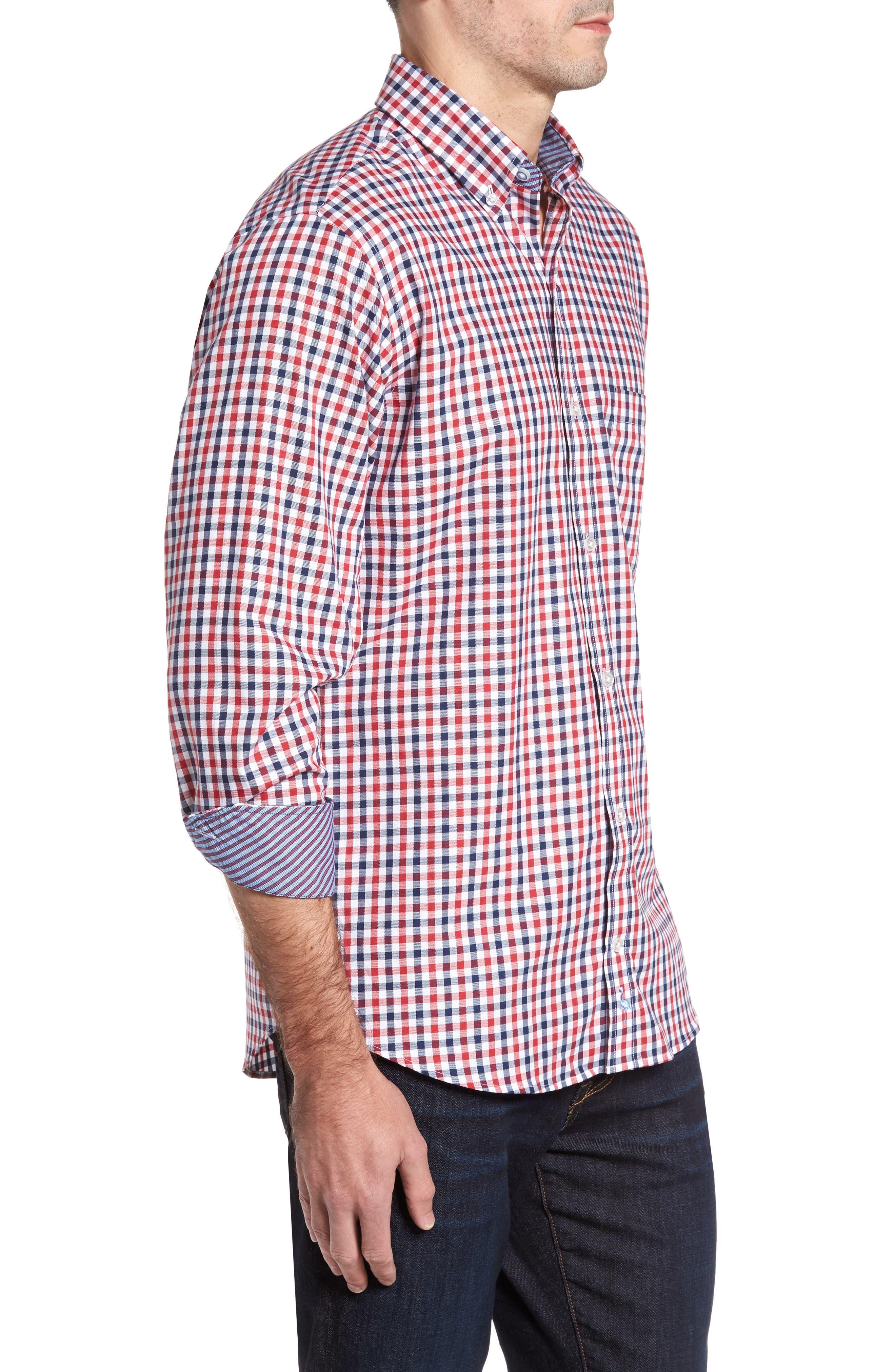 Bernice Check Sport Shirt,                             Alternate thumbnail 3, color,                             600