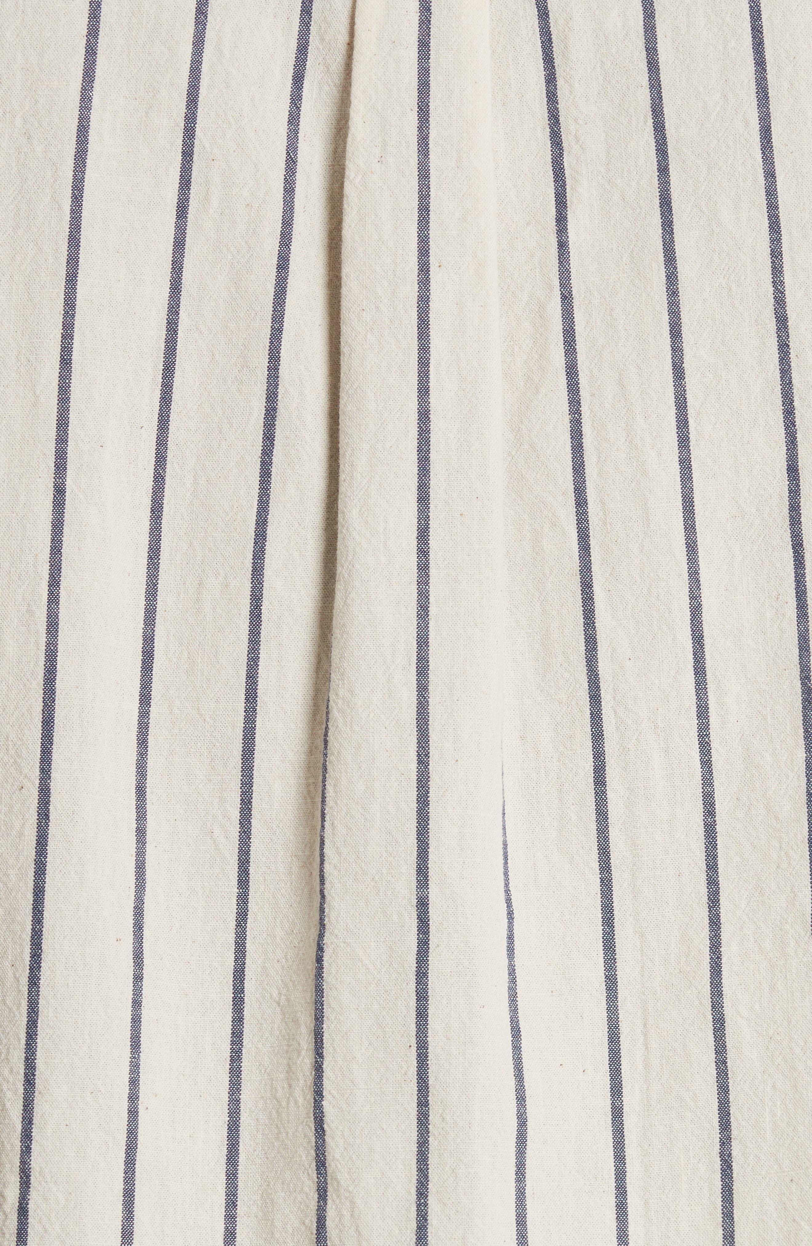 Bryan Stripe Woven Shirt,                             Alternate thumbnail 5, color,                             ECRU