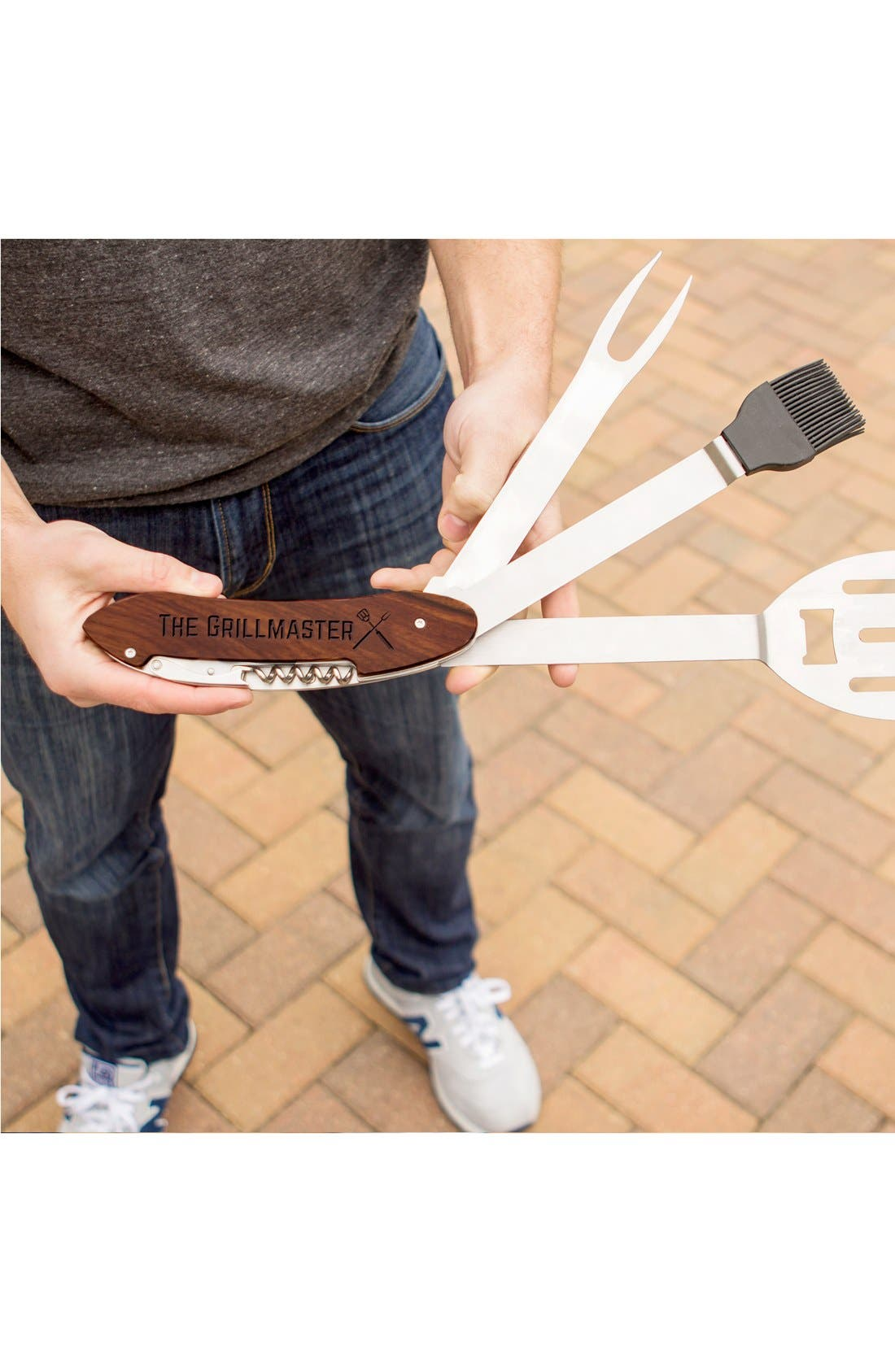 'Grillmaster' BBQ Multi Tool,                             Alternate thumbnail 5, color,                             BROWN