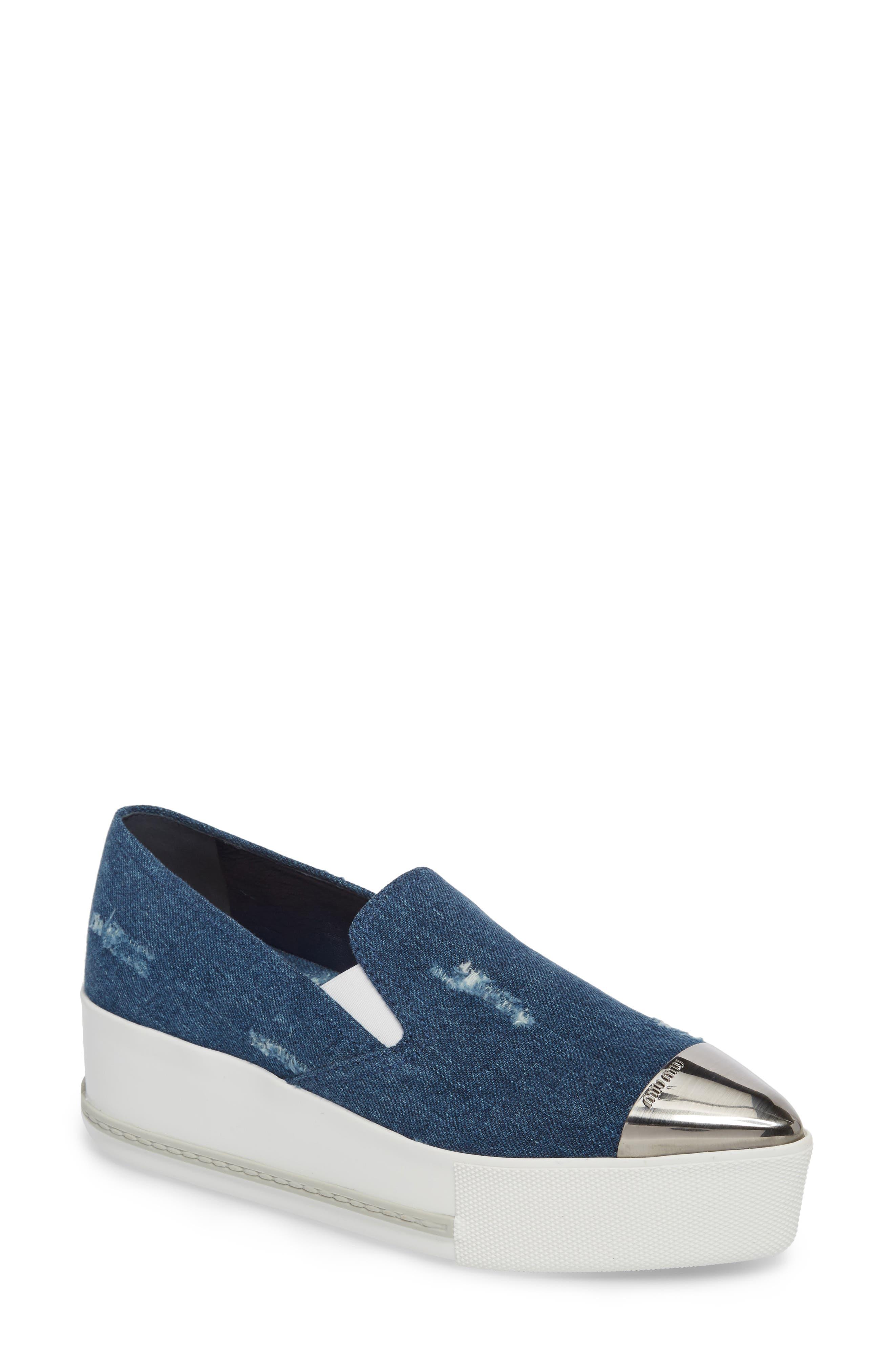 Cap Toe Platform Sneaker,                         Main,                         color, 400