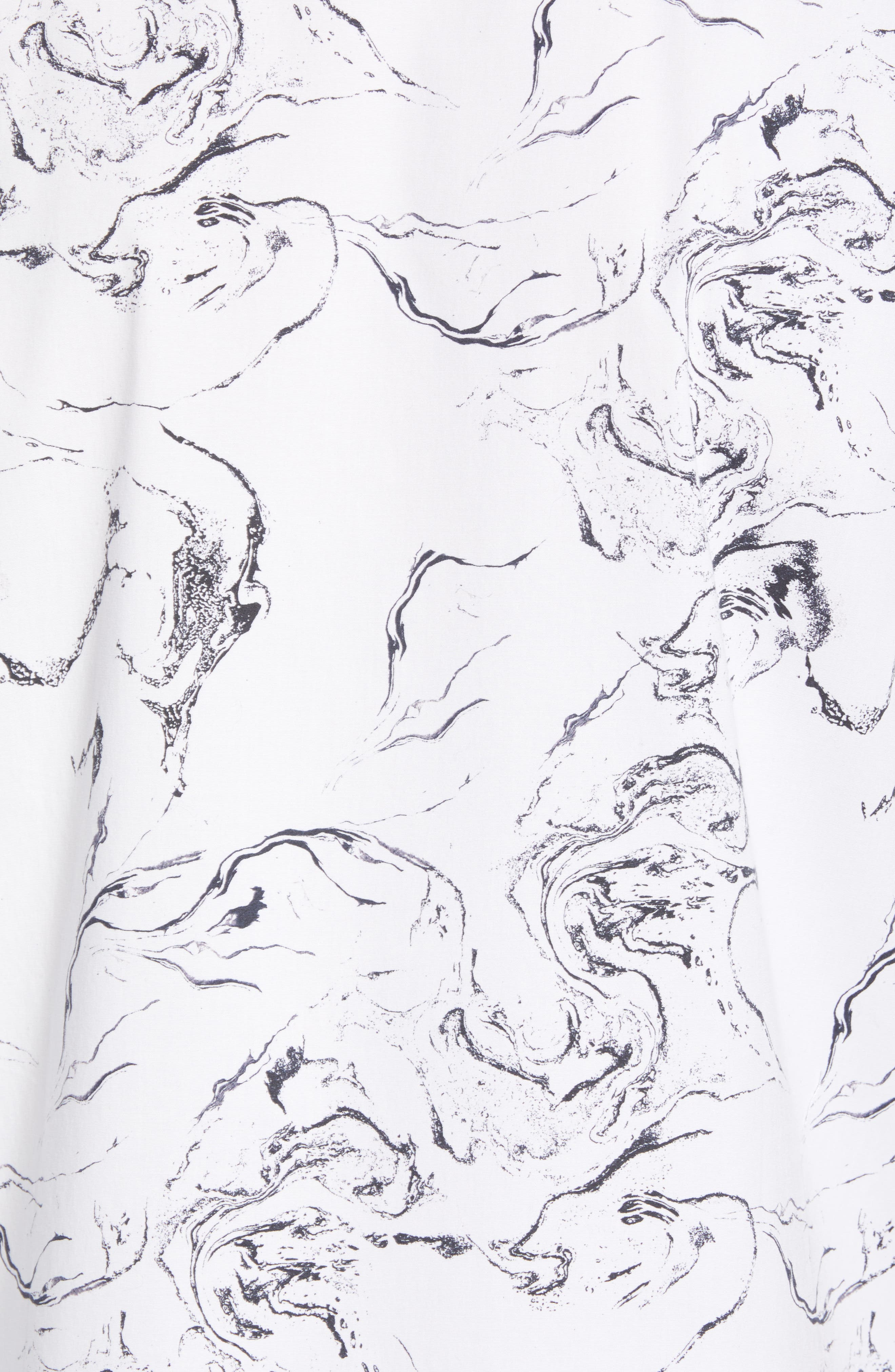 Trim Fit Stretch Print Short Sleeve Sport Shirt,                             Alternate thumbnail 5, color,