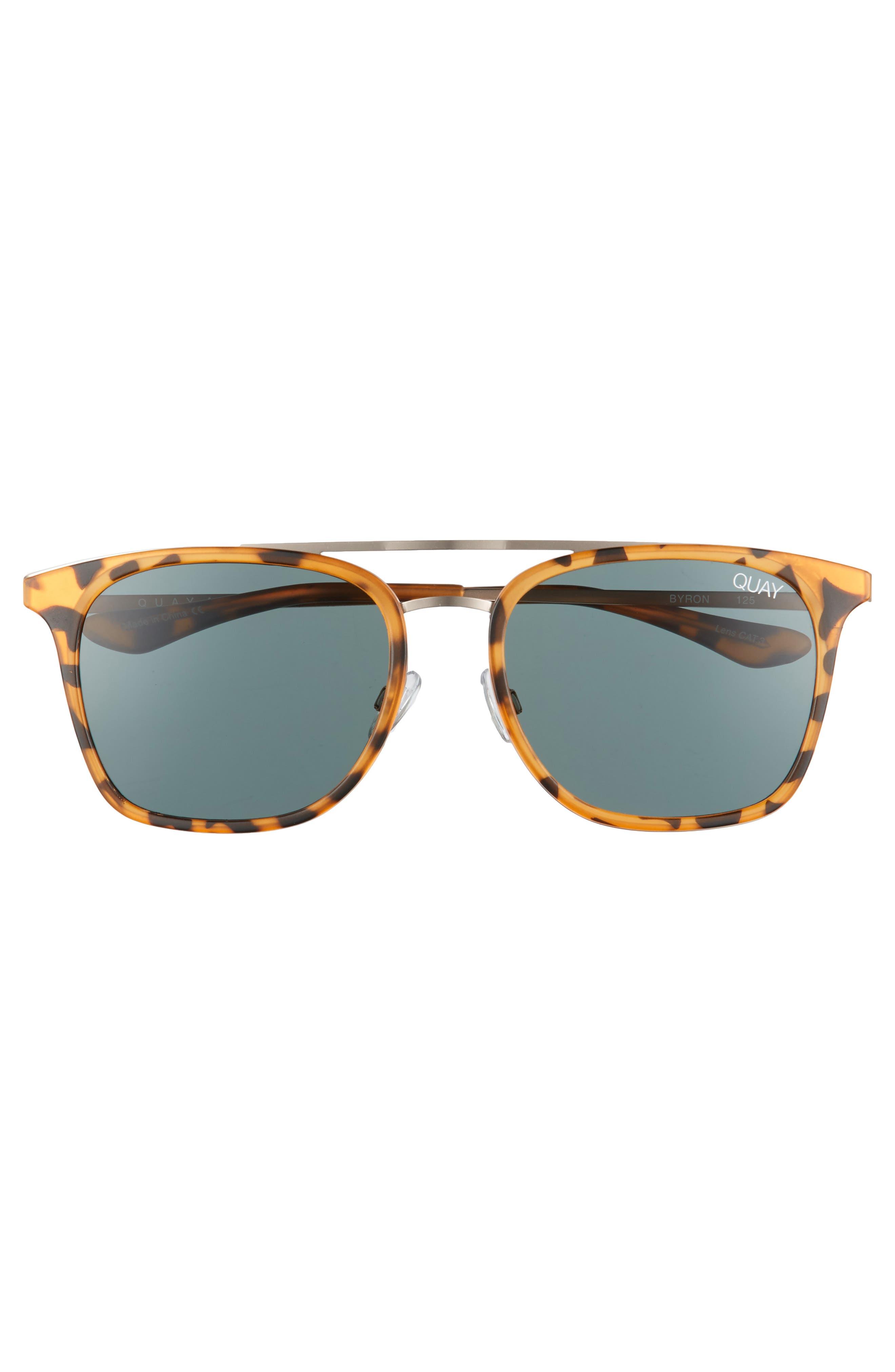 Byron 50mm Sunglasses,                             Alternate thumbnail 2, color,                             TORTOISE/ GREEN