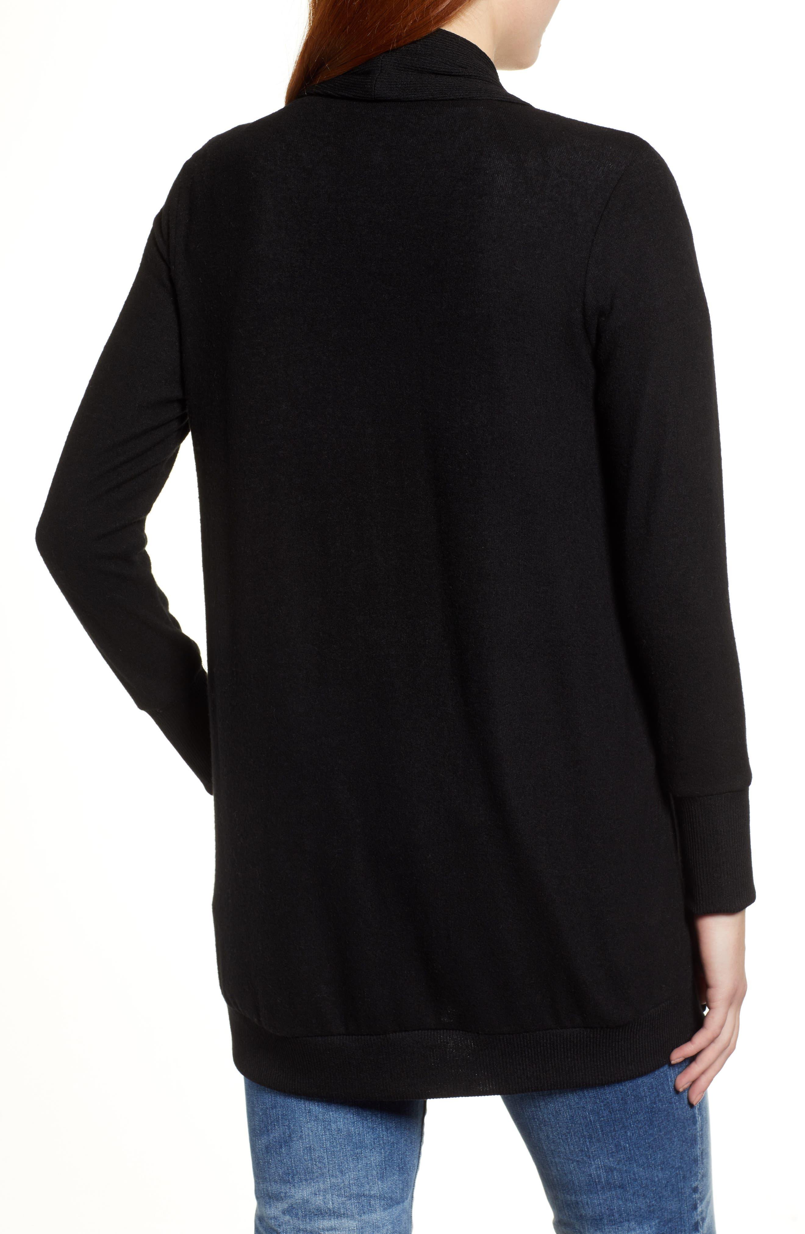 Cozy Ribbed Cardigan,                             Alternate thumbnail 2, color,                             001