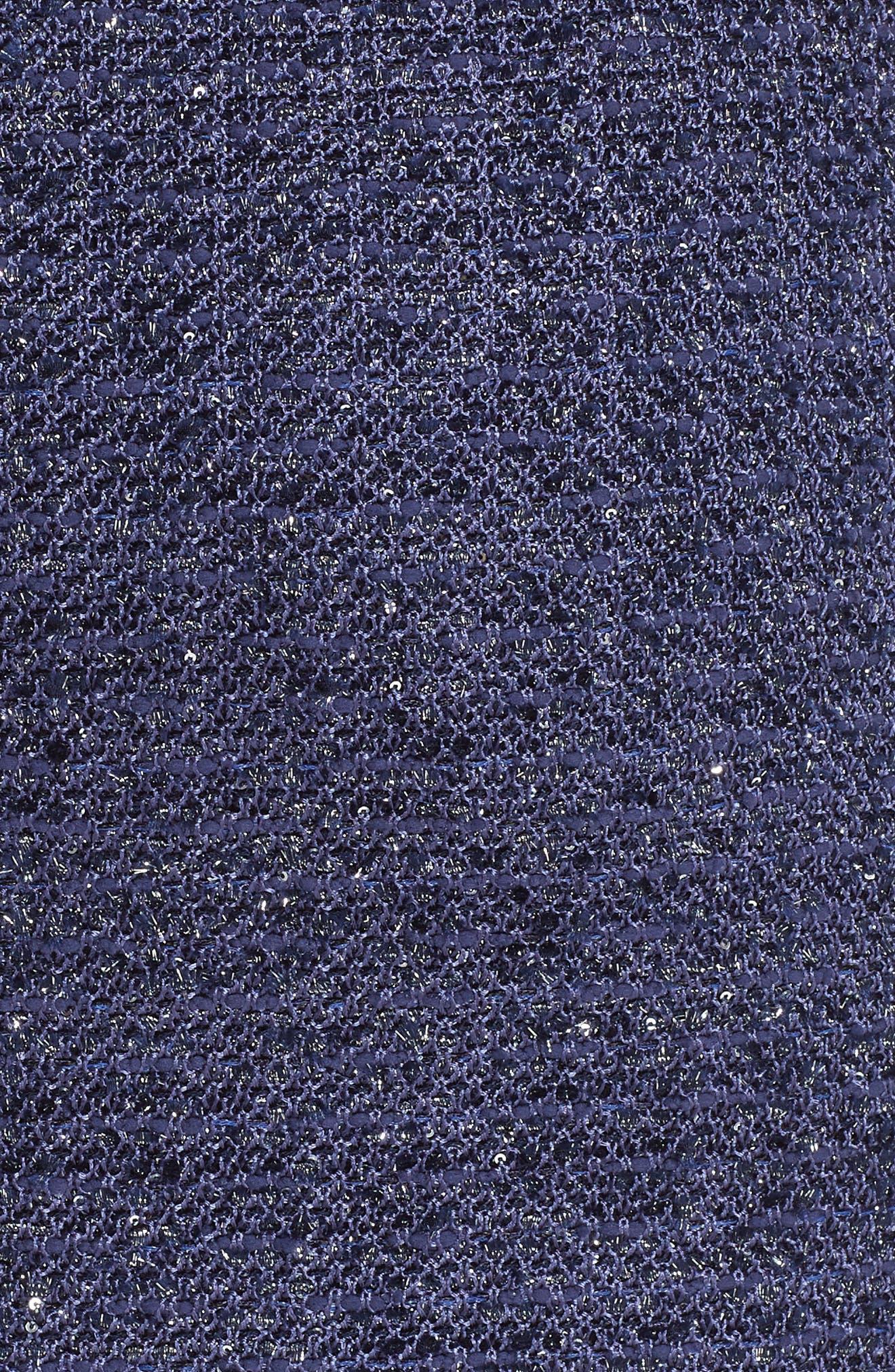 Starlight Knit Pencil Skirt,                             Alternate thumbnail 5, color,                             VIOLA MULTI