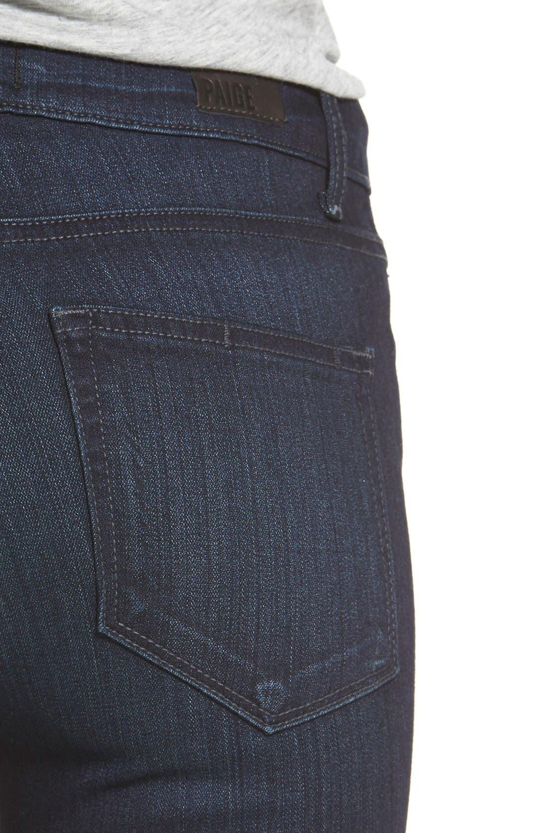 Denim 'Transcend - Hoxton' High Rise Ankle Skinny Jeans,                             Alternate thumbnail 4, color,                             400