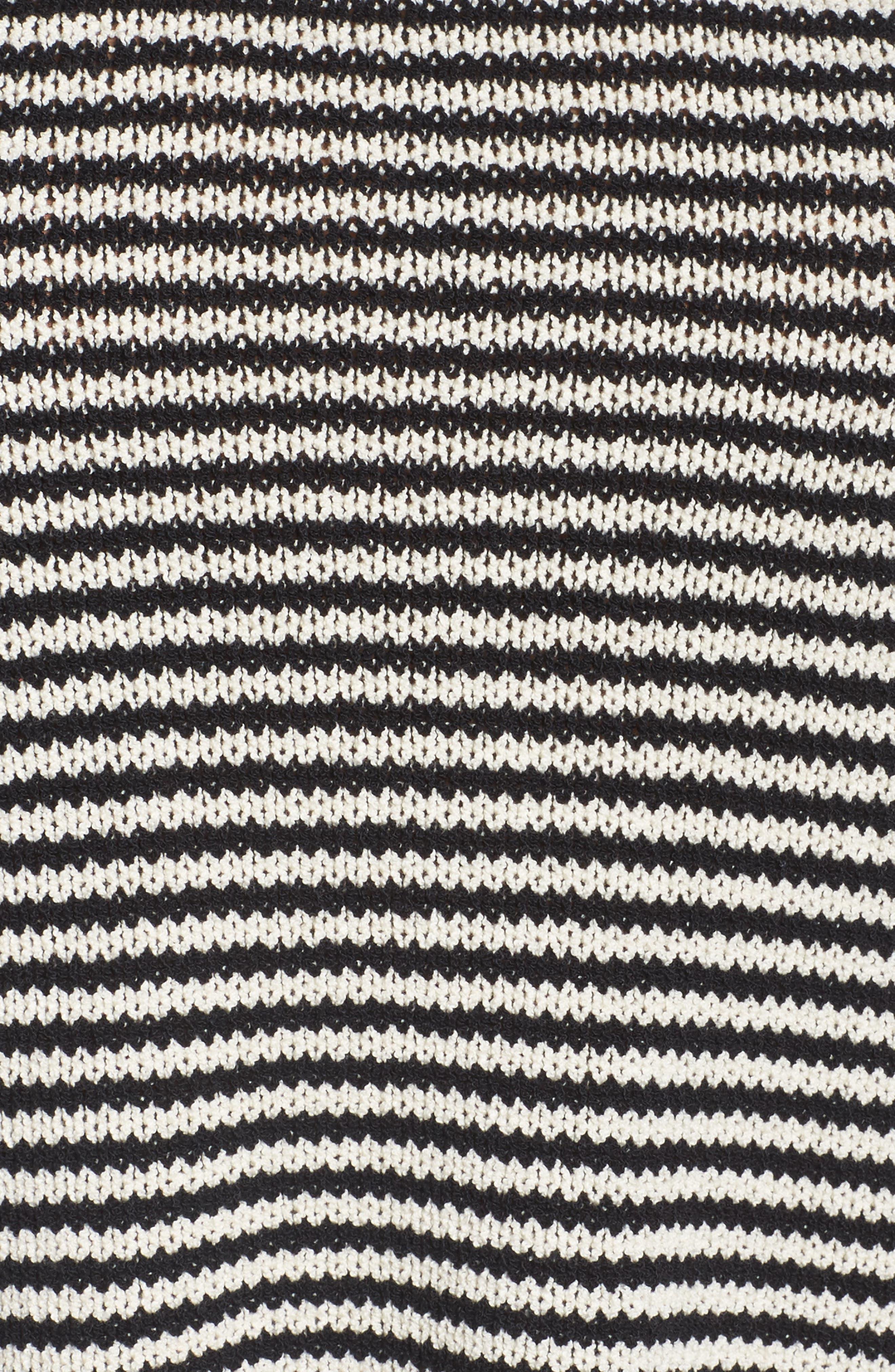 Stripe Cotton Blend Knit Top,                             Alternate thumbnail 5, color,                             001