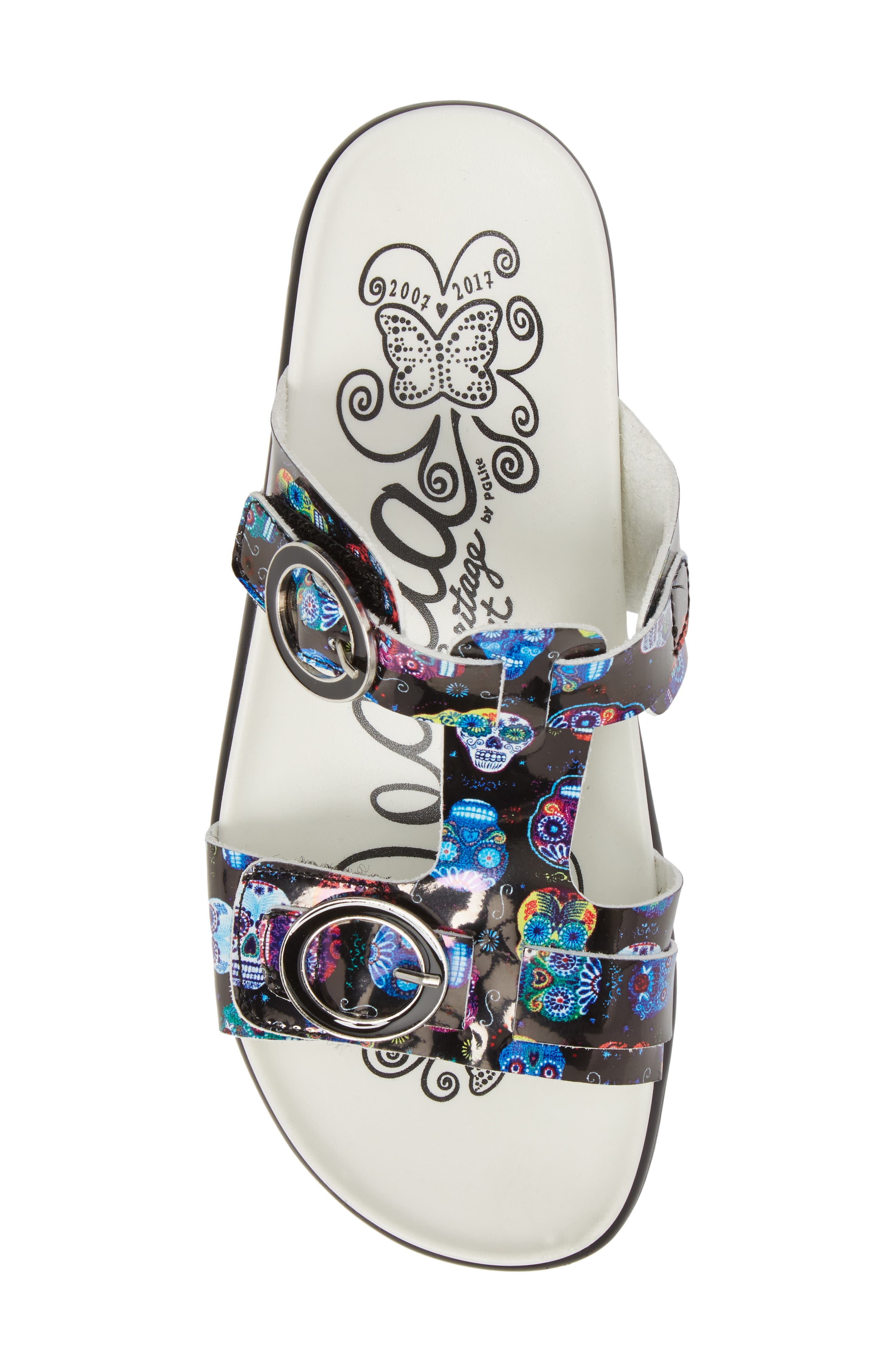 Vita Sandal,                             Alternate thumbnail 5, color,                             SUGAR SKULLS LEATHER