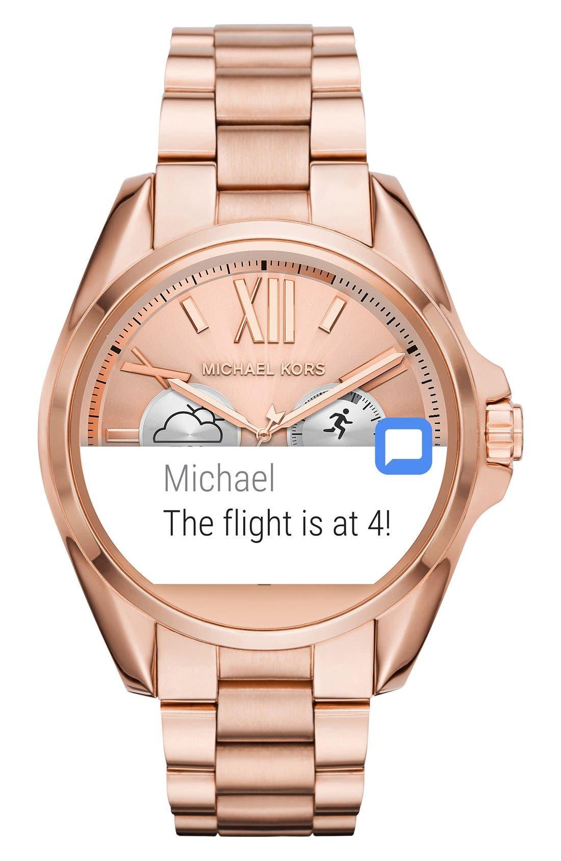 MICHAEL Michael Kors Bradshaw Access Bracelet Smart Watch, 45mm,                             Alternate thumbnail 33, color,