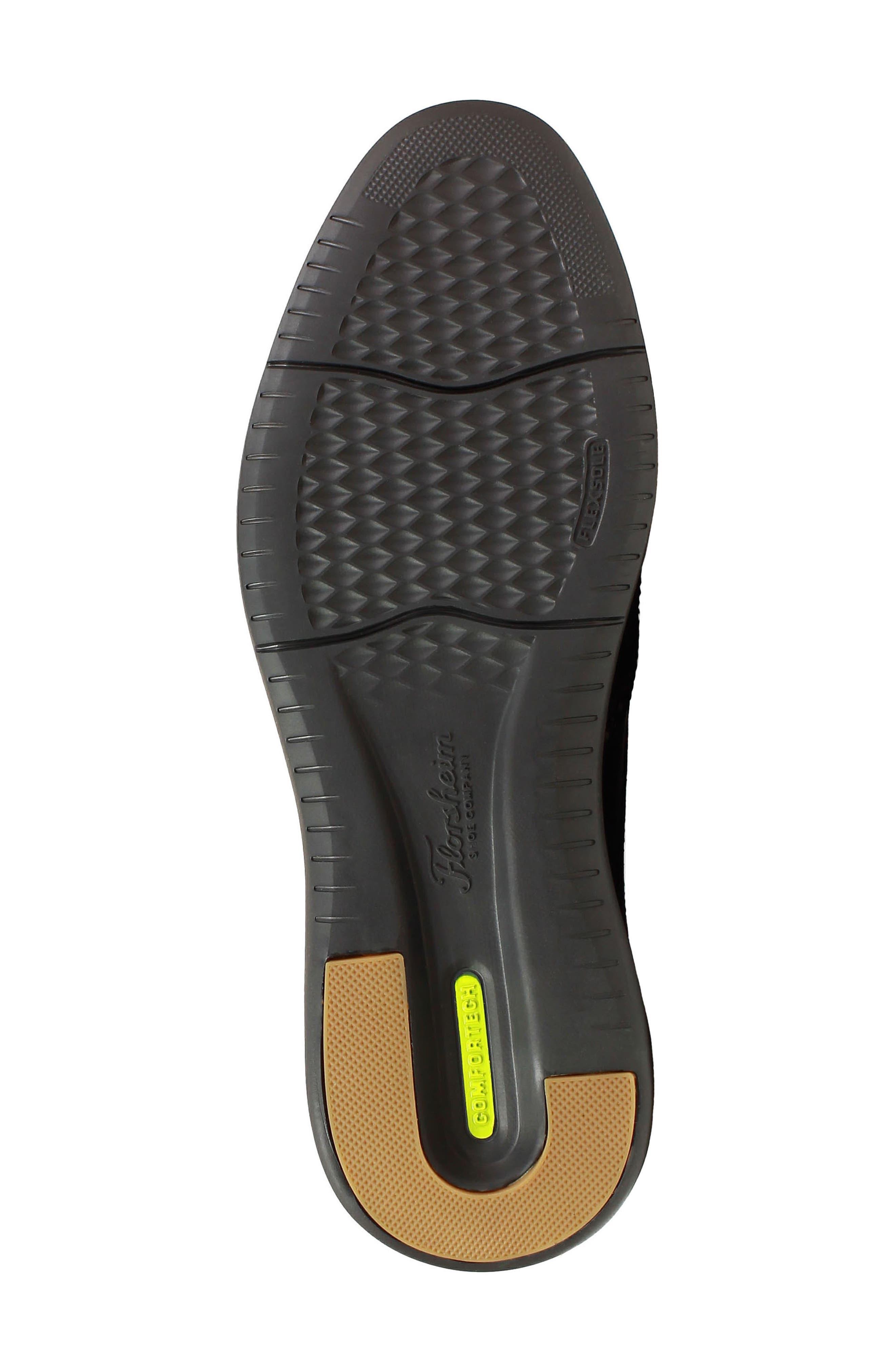 Fuel Plain Toe Derby,                             Alternate thumbnail 6, color,                             BLACK LEATHER